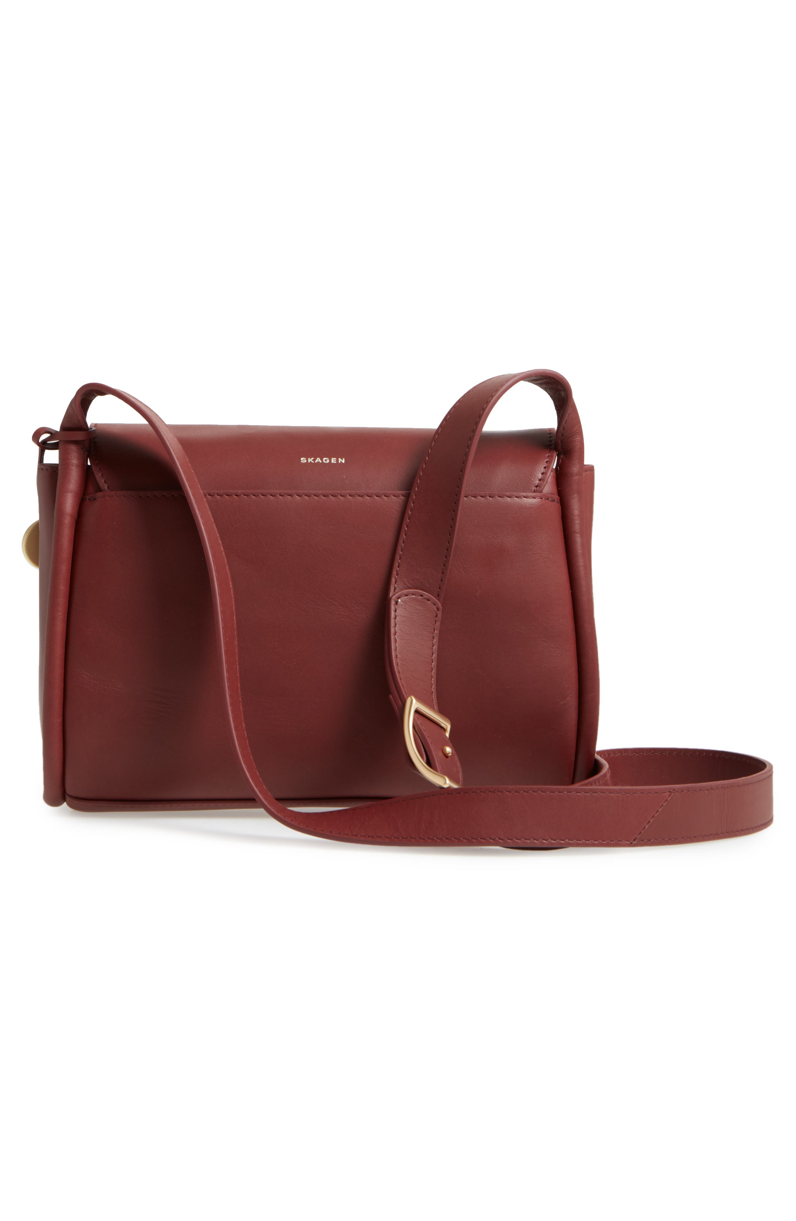 Alternate Image 2  - Skagen Sylvi Leather Crossbody Bag