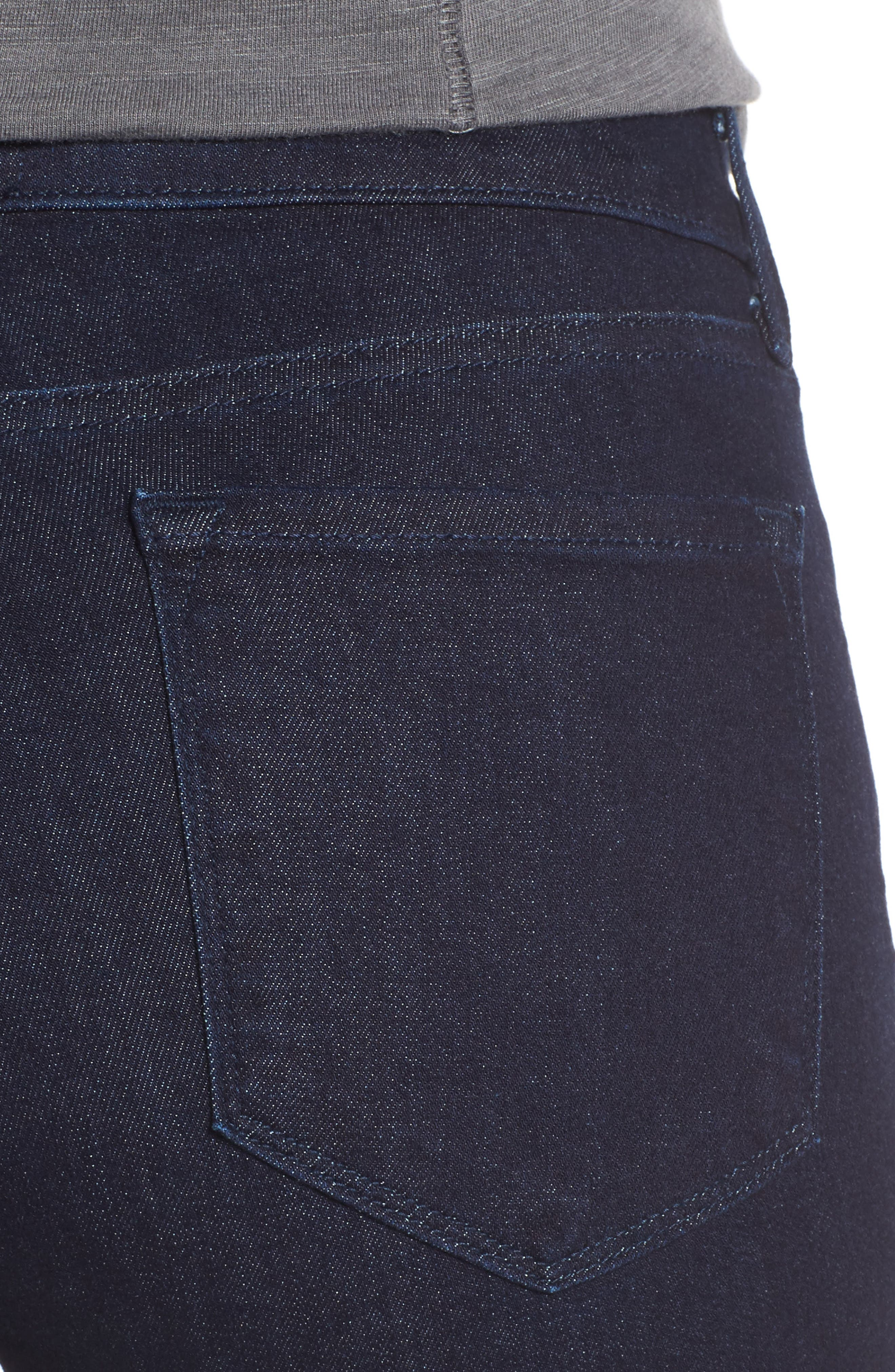 Marilyn Stretch Straight Leg Jeans,                             Alternate thumbnail 4, color,                             Rinse