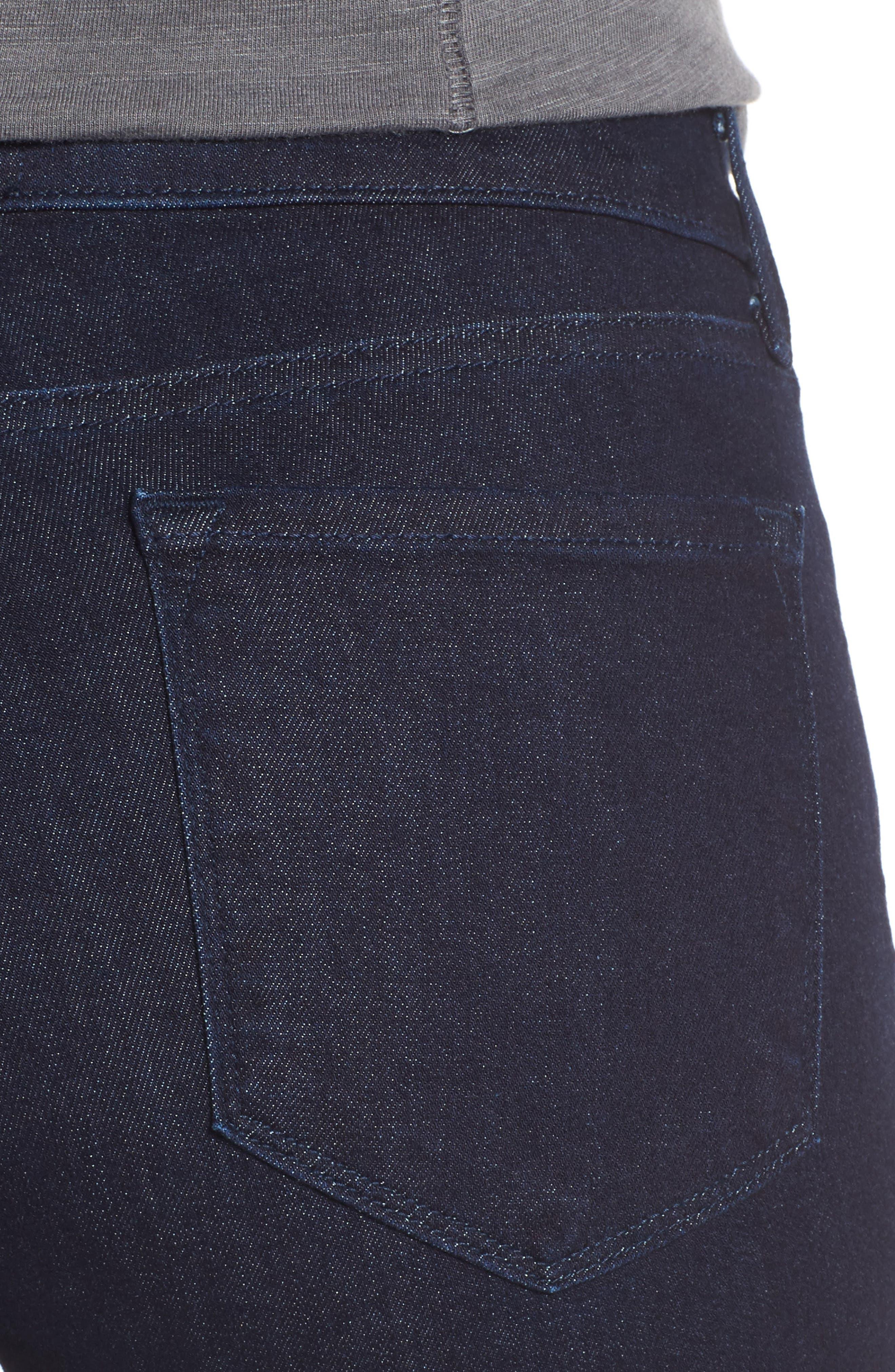 Alternate Image 4  - NYDJ Marilyn Stretch Straight Leg Jeans (Rinse) (Regular & Petite)