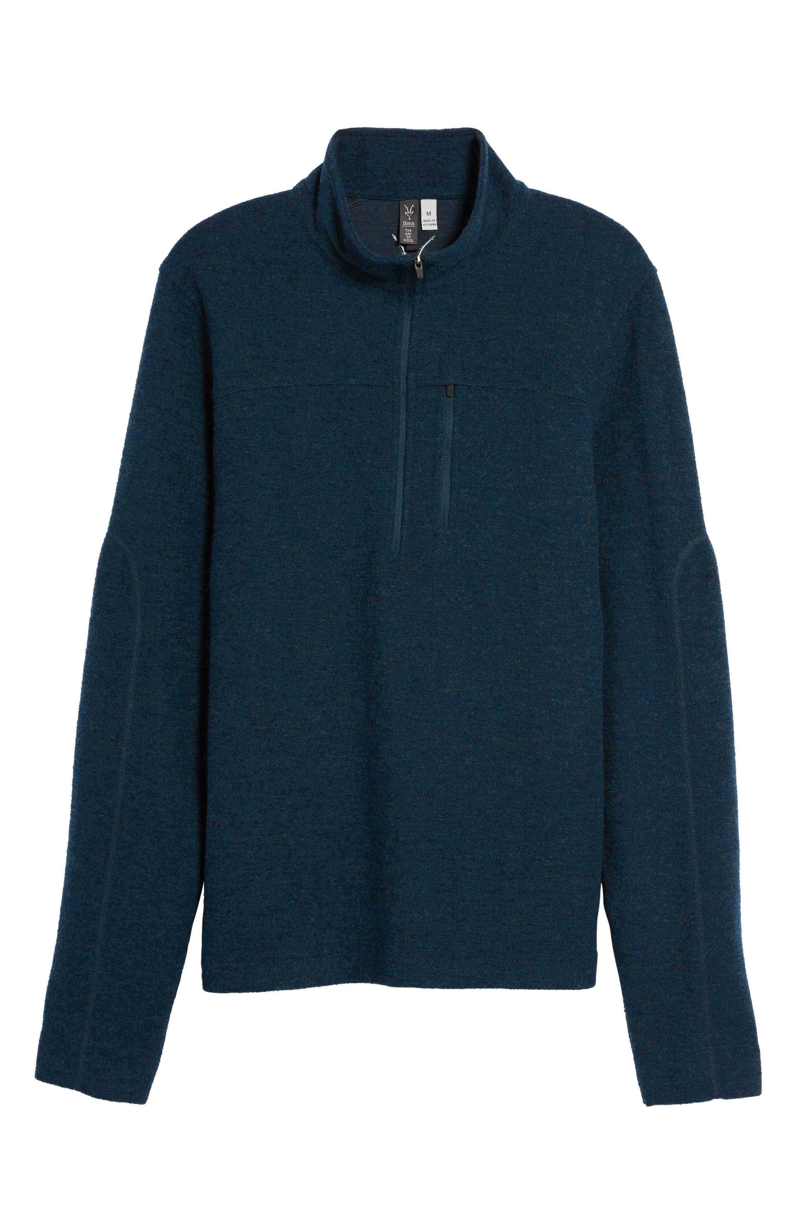 ibex Scout Jura Merino Wool Blend Quarter Zip Pullover