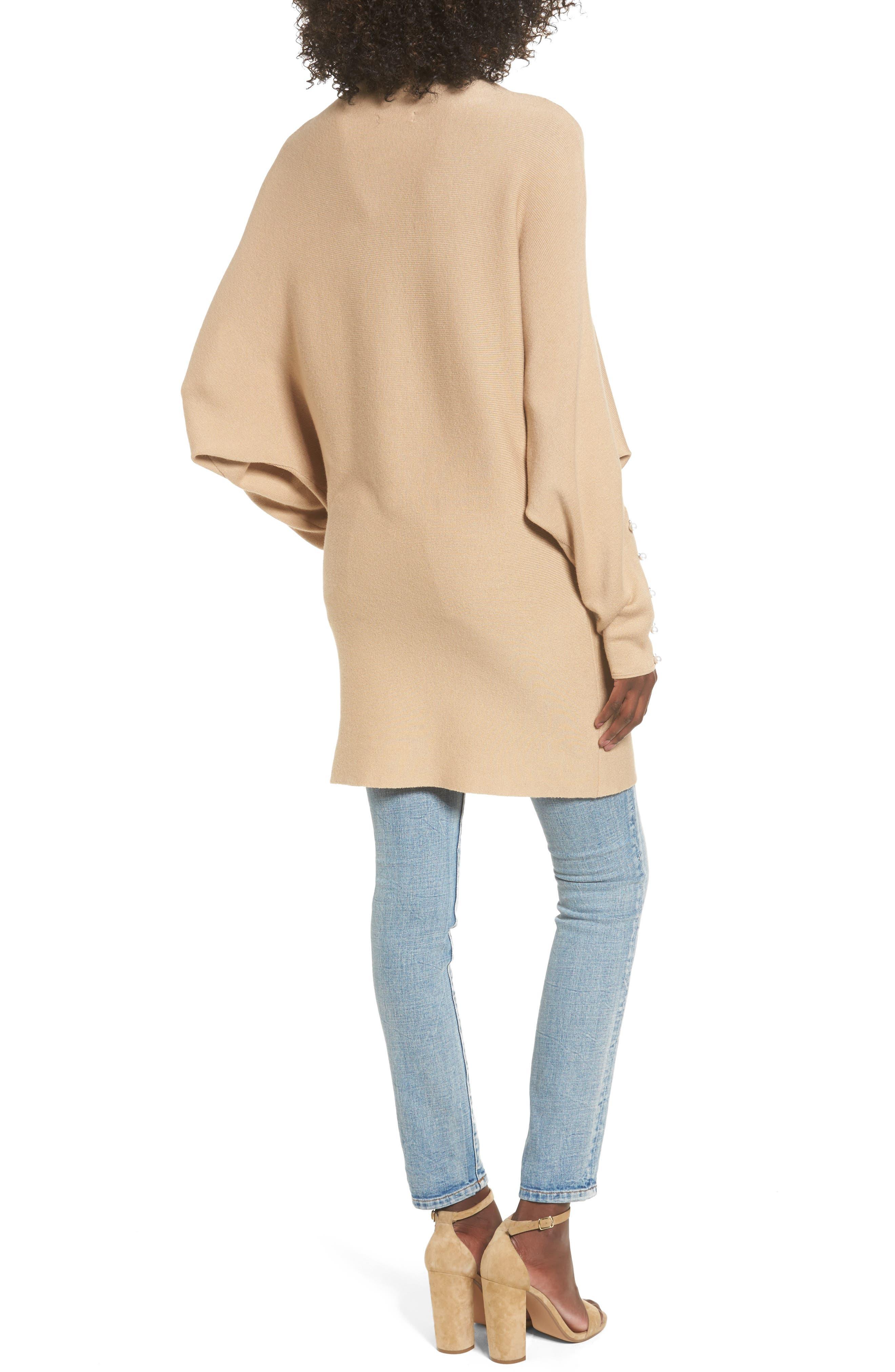 Dolman Sleeve Sweater,                             Alternate thumbnail 2, color,                             Tan Nomad