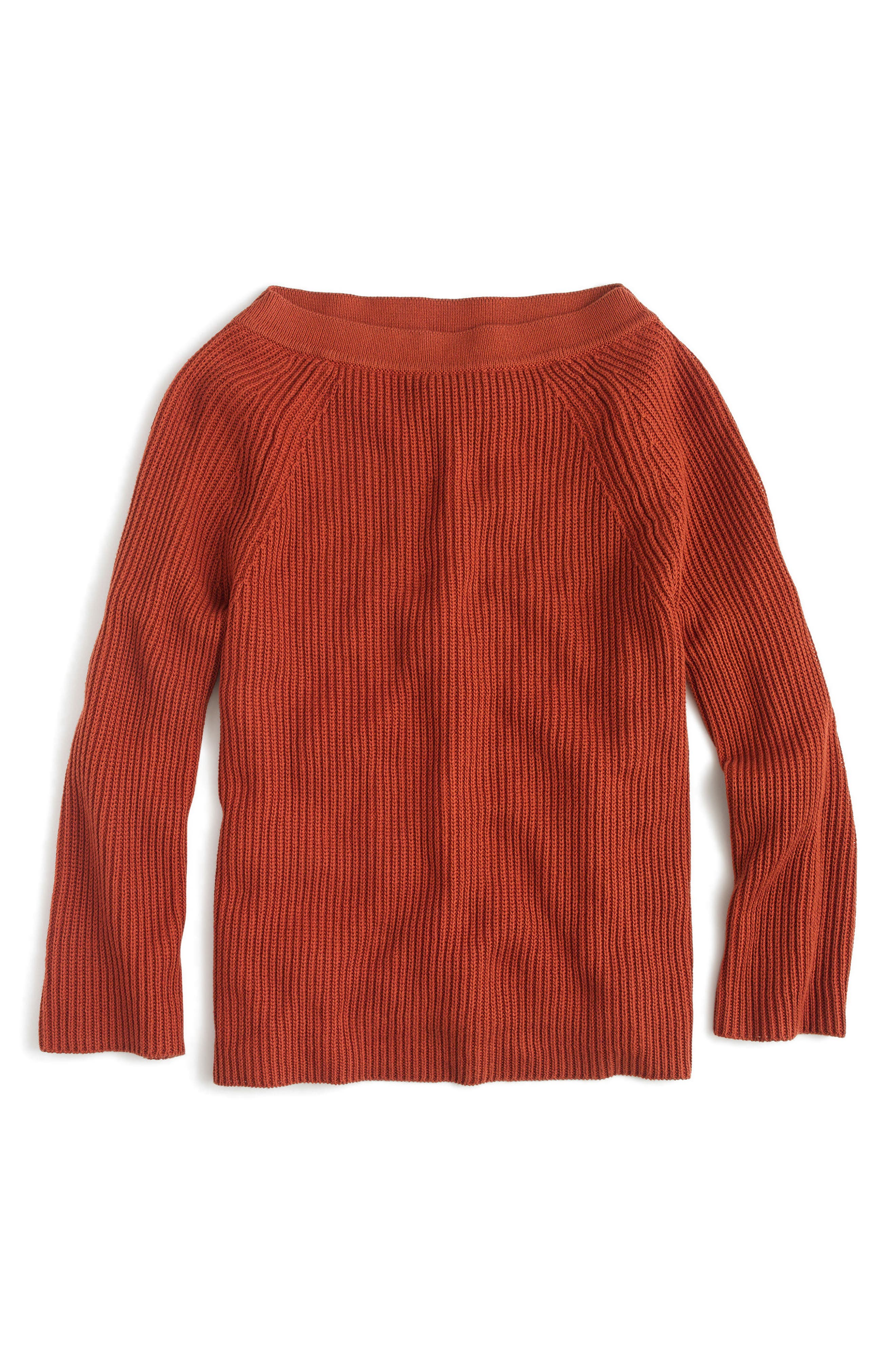 Alternate Image 3  - J.Crew Relaxed Cotton Boatneck Sweater