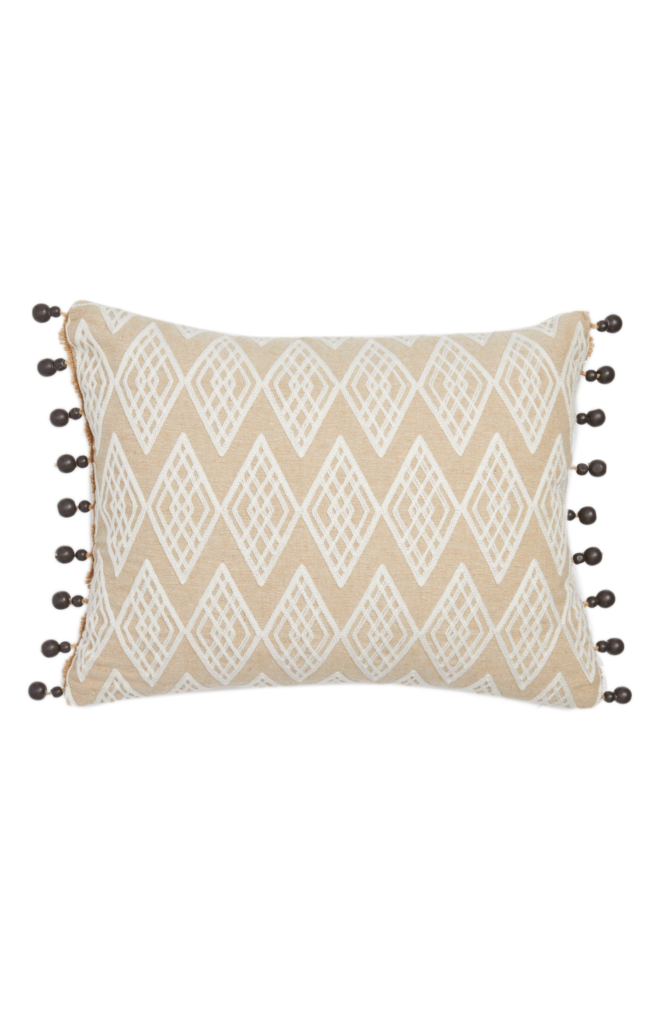 Levtex Zander Beaded Pillow