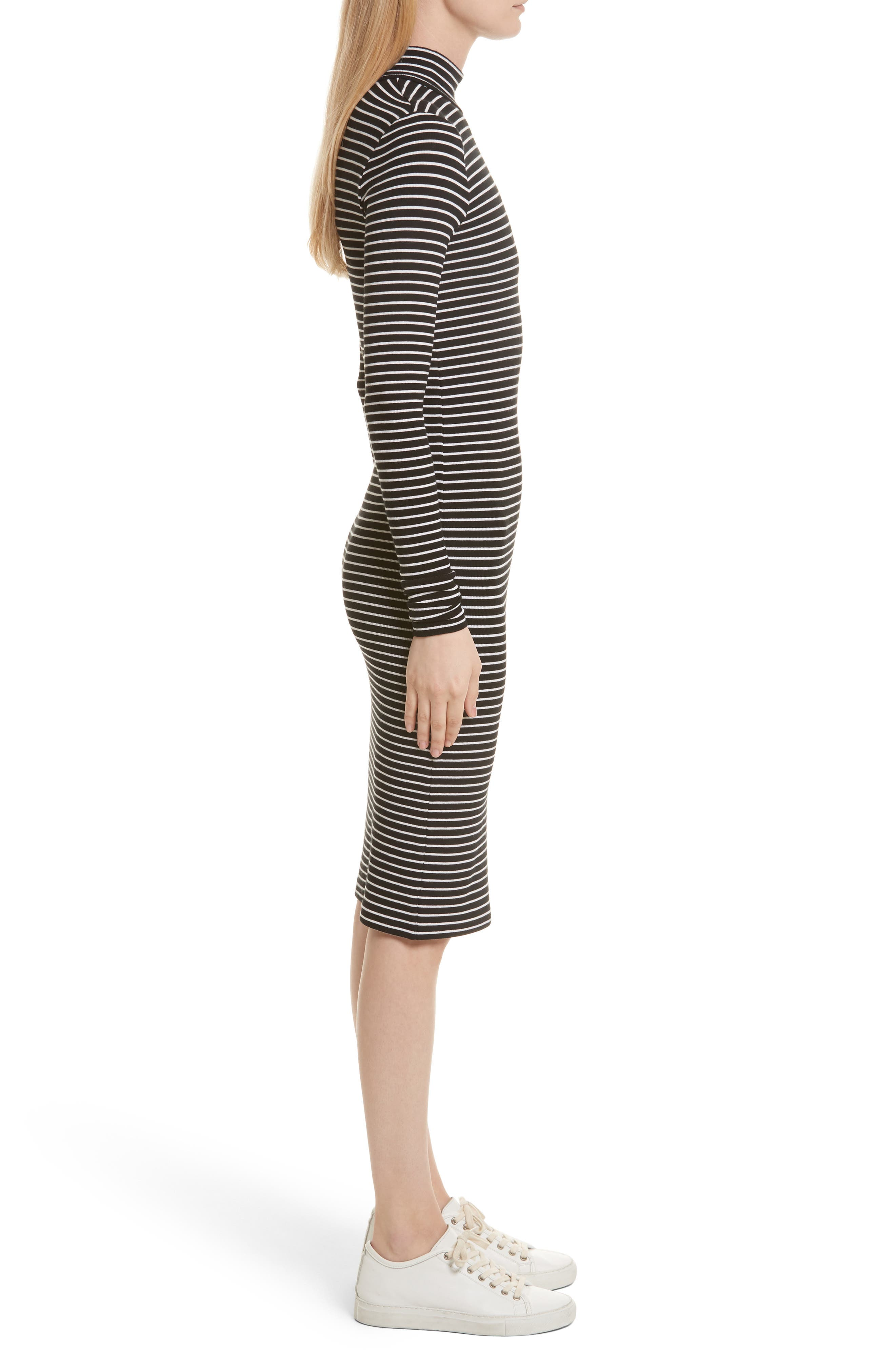 Alternate Image 2  - ATM Anthony Thomas Melillo Stripe Rib Jersey Dress (Nordstrom Exclusive)