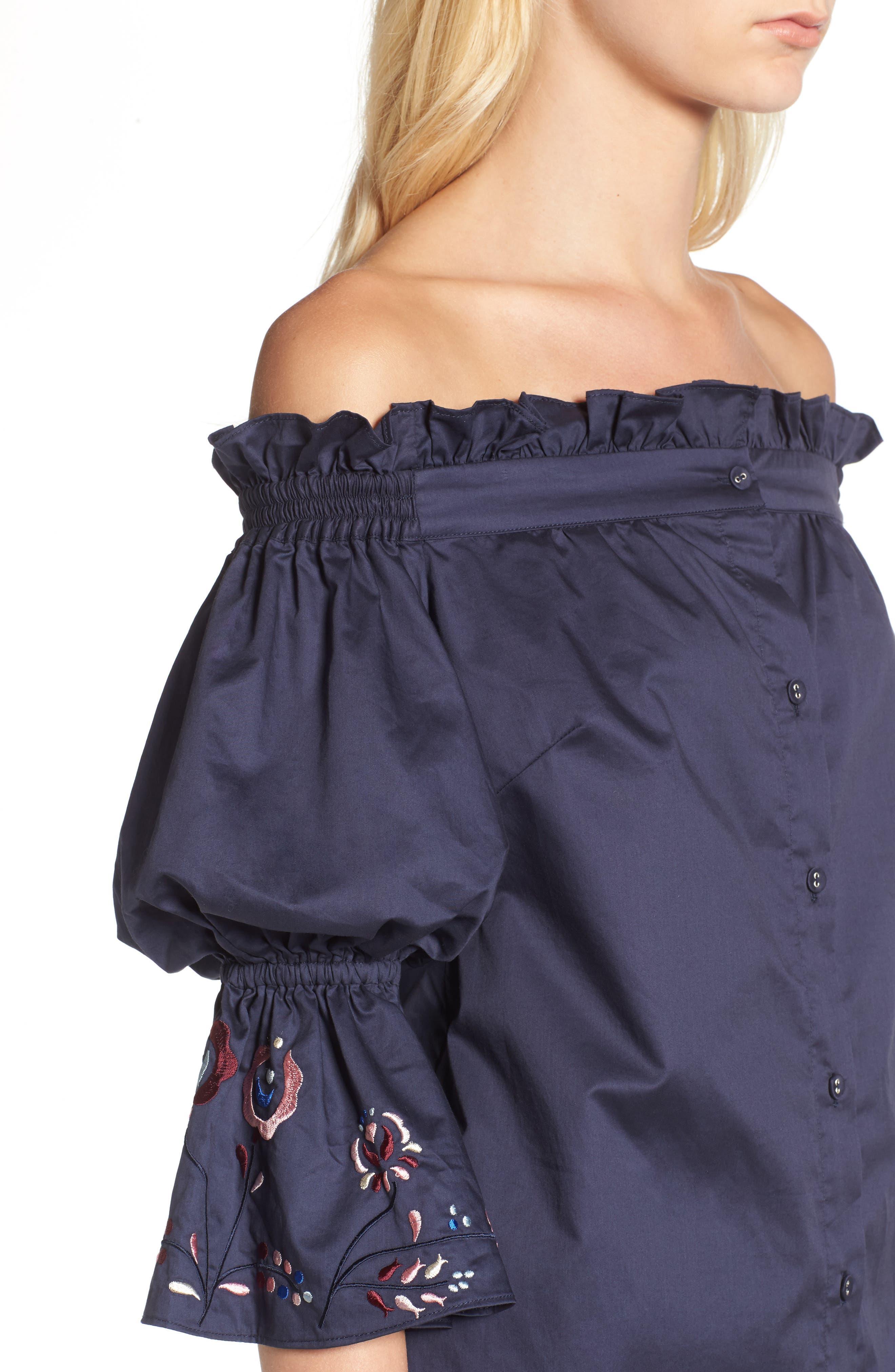 Alternate Image 4  - Parker Dakota Off the Shoulder Shift Dress