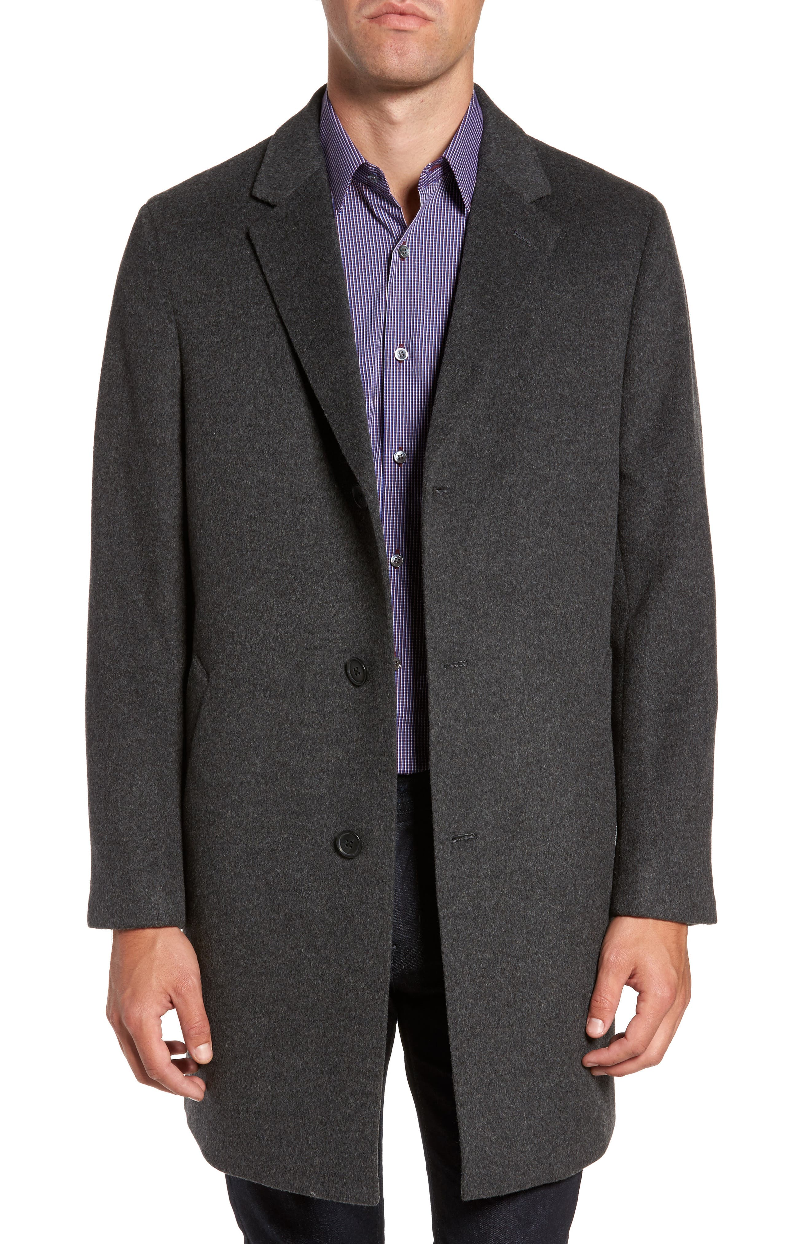 Mason Wool & Cashmere Overcoat,                         Main,                         color, Charcoal