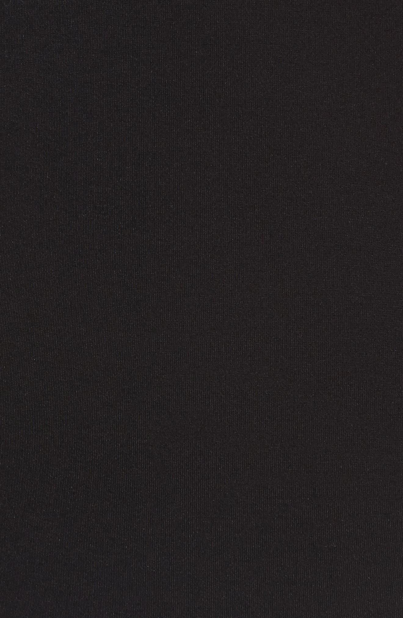 Mesh Inset Body-Con Dress,                             Alternate thumbnail 5, color,                             Black