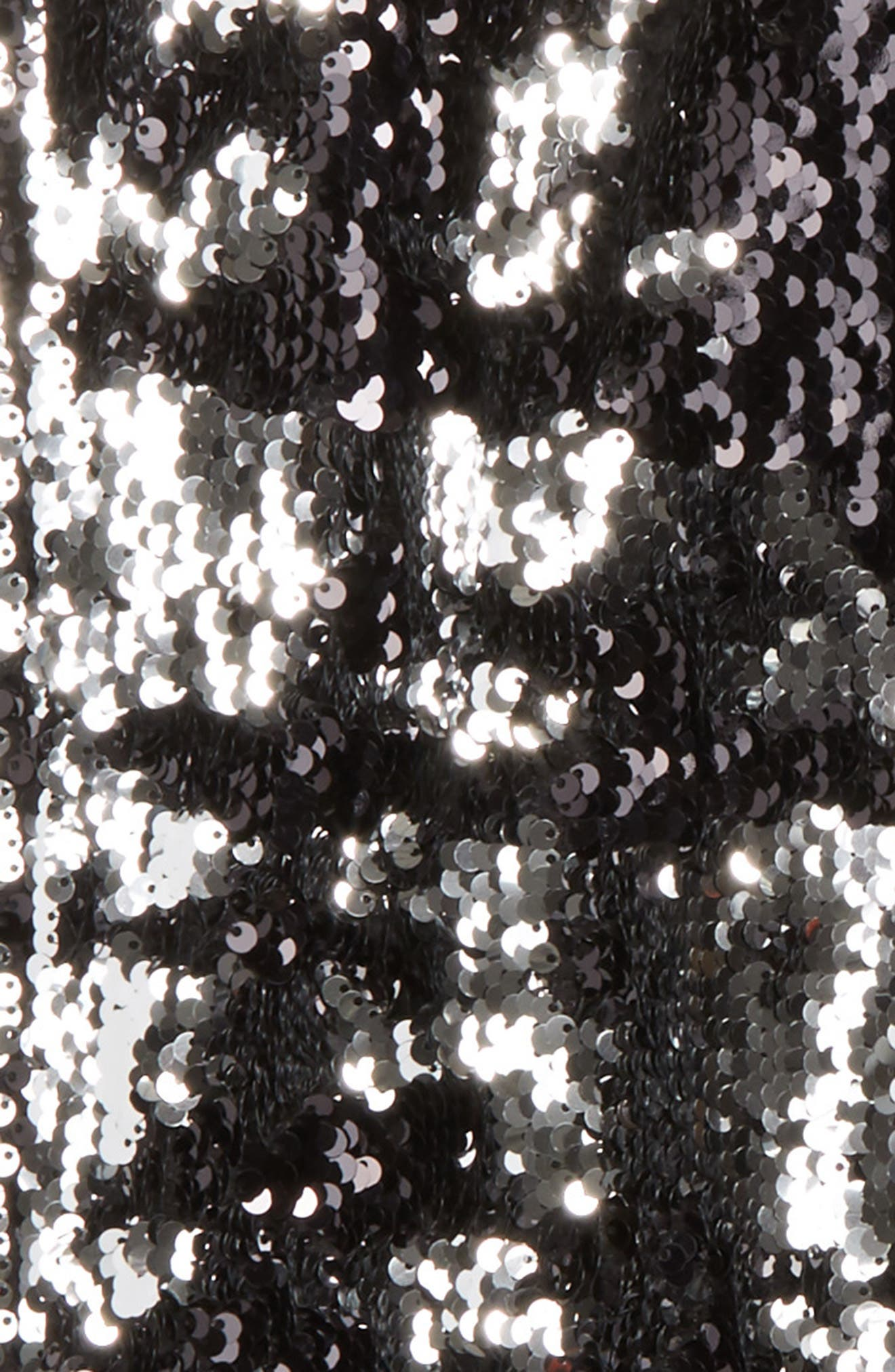 Sequin Jogger Pants,                             Alternate thumbnail 3, color,                             Silver/ Black