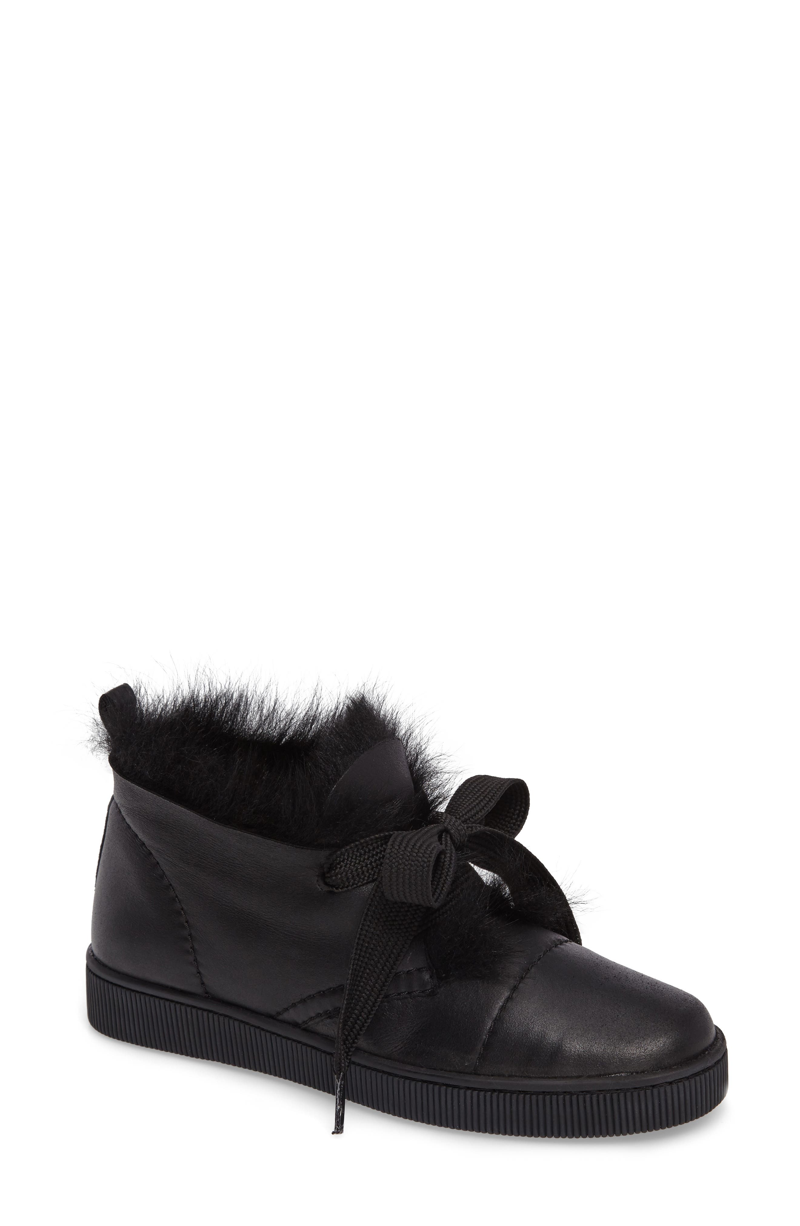 Alternate Image 1 Selected - Pedro Garcia Parley Genuine Shearling & Leather Sneaker (Women)