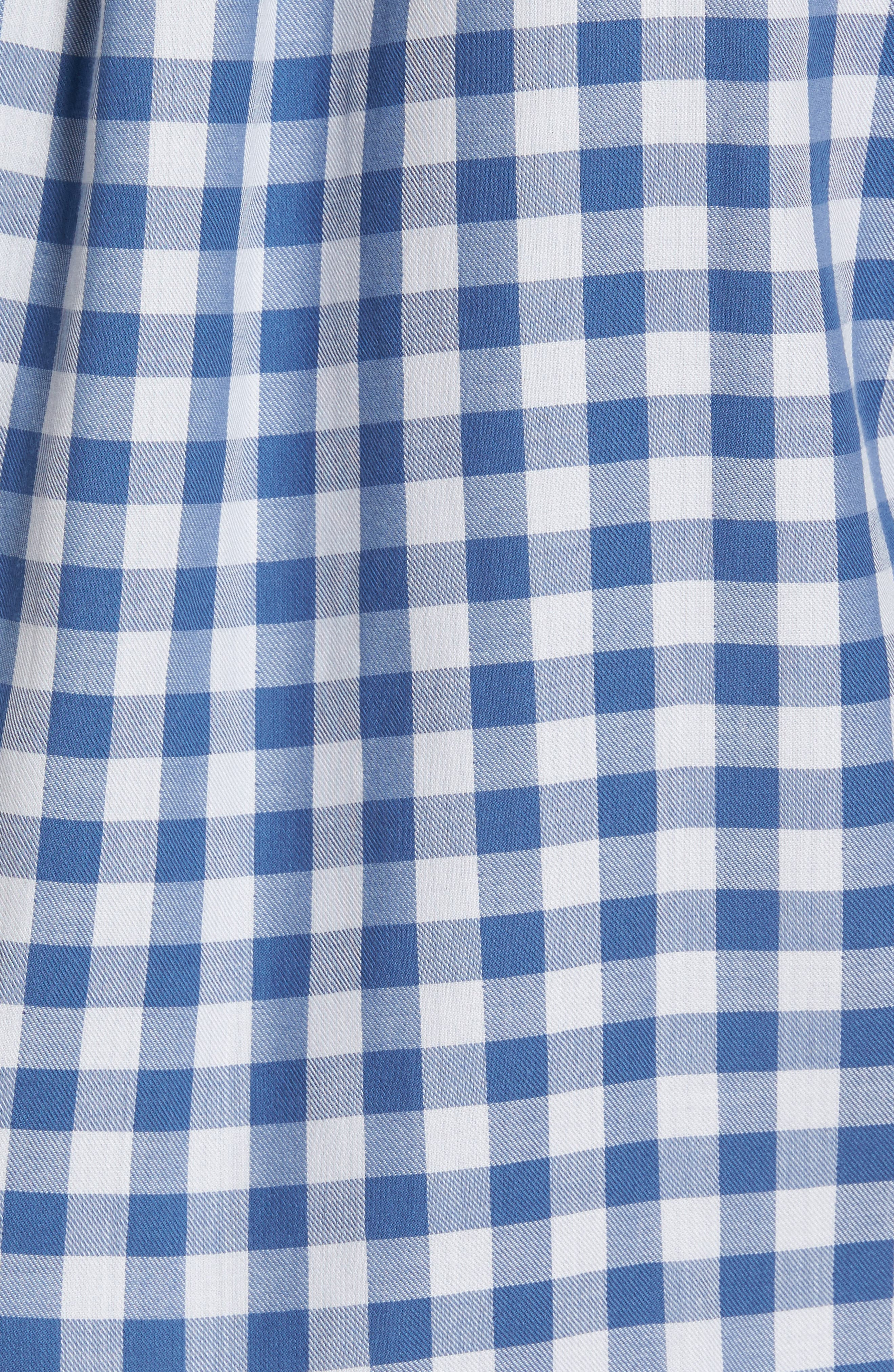 Crosby Slim Blue Heron Gingham Sport Shirt,                             Alternate thumbnail 5, color,                             Moonshine