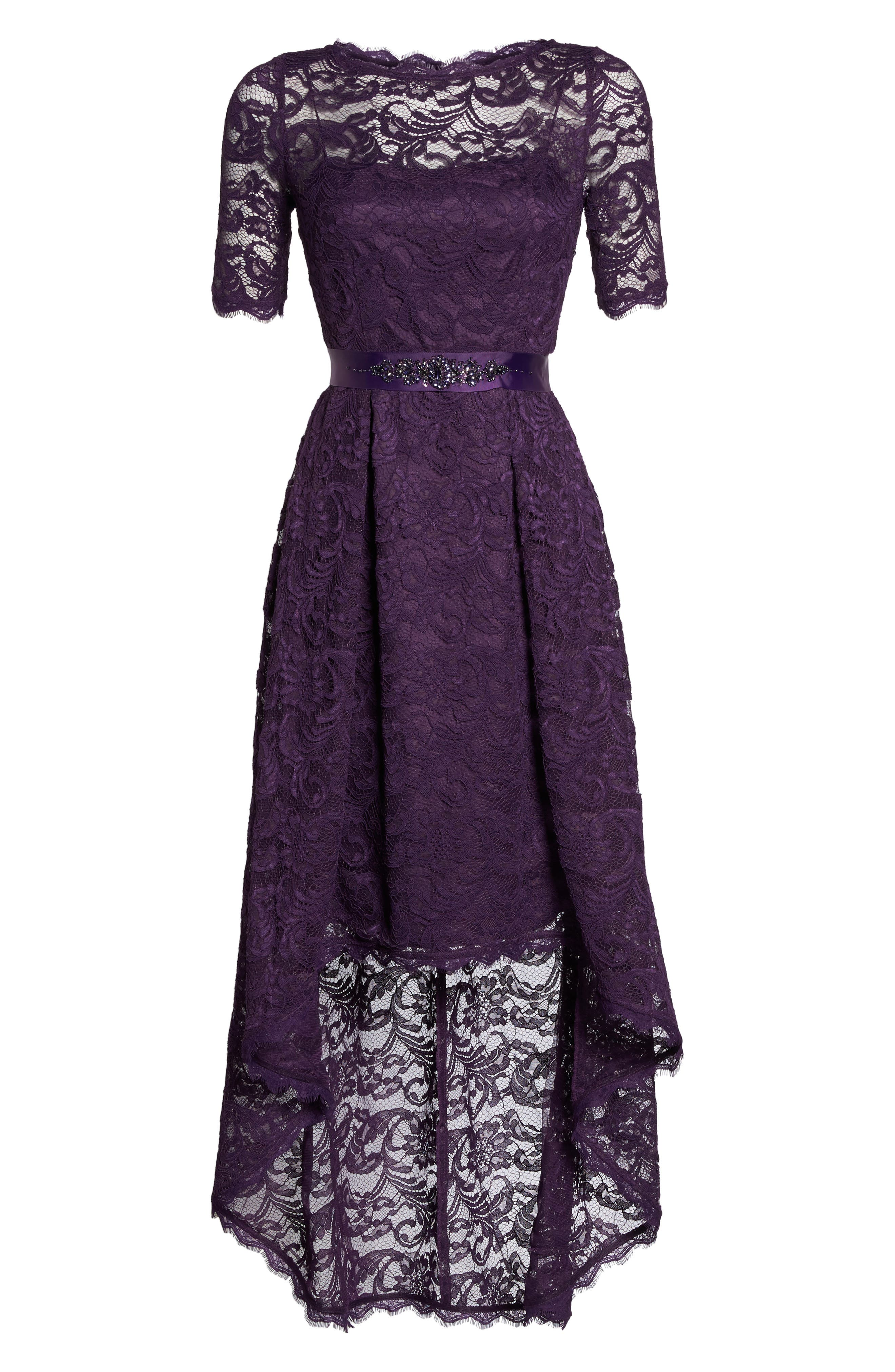 Alternate Image 6  - Adrianna Papell High/Low Lace Dress
