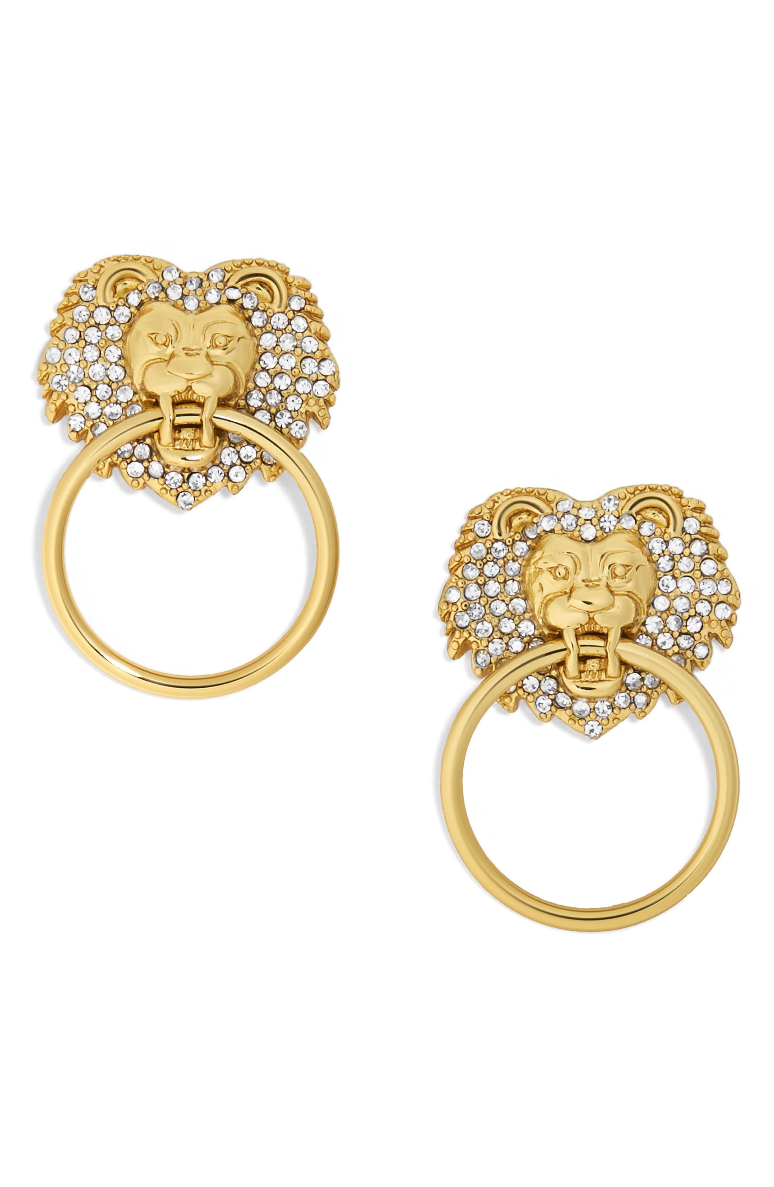 BAUBLEBAR Panthera Doorknocker Earrings