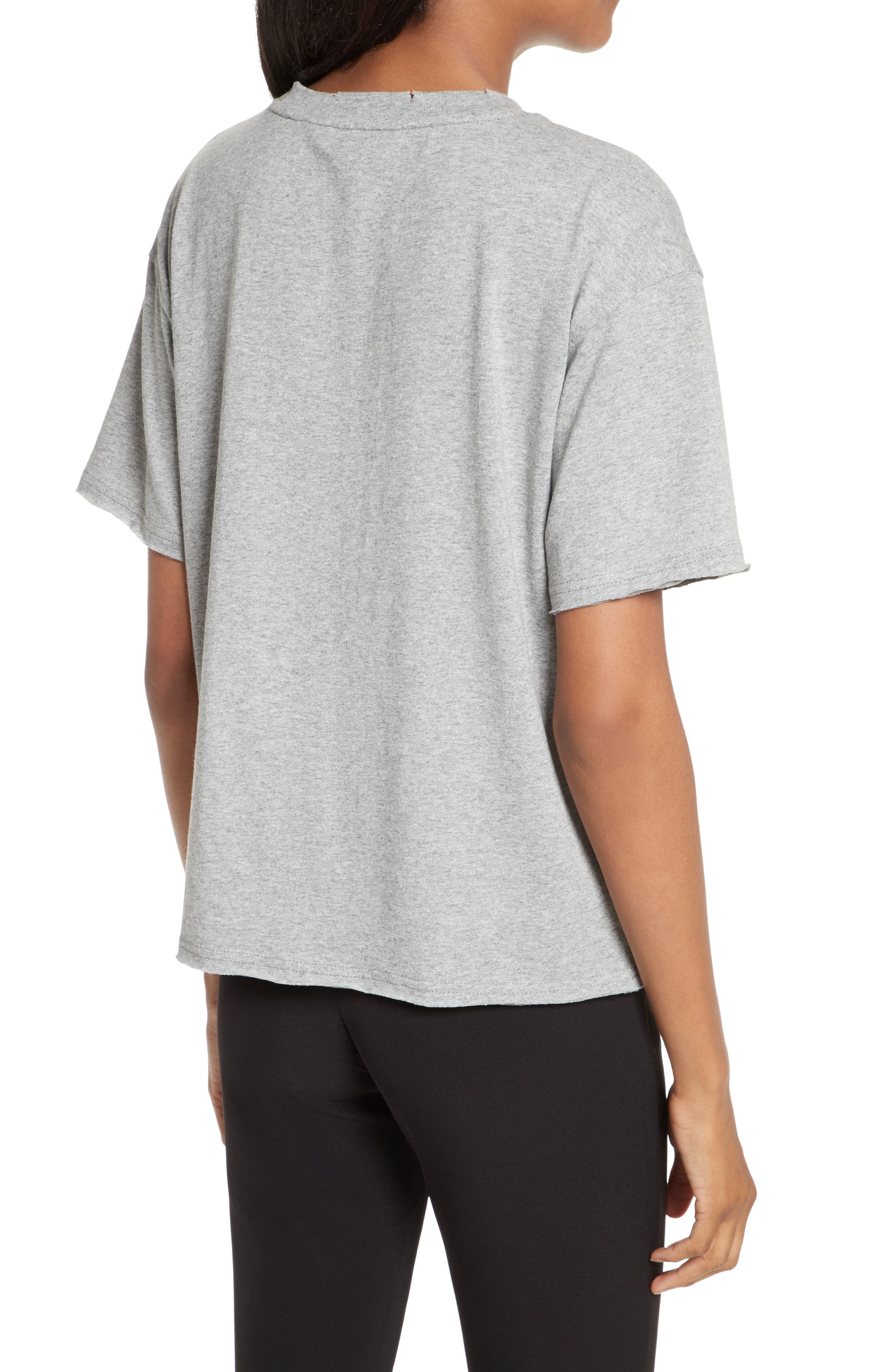 Ronnie Embroidered Tee,                             Alternate thumbnail 2, color,                             Heather Grey
