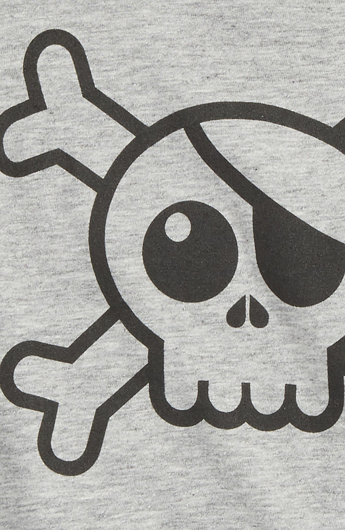 Alternate Image 2  - NUNUNU Skull Graphic T-Shirt (Baby)