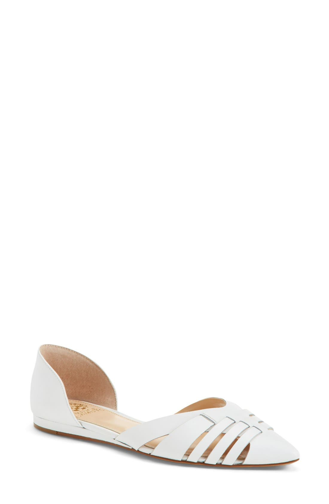 Main Image - Vince Camuto 'Hallie' Woven Leather d'Orsay Flat (Women) (Nordstrom Exclusive)