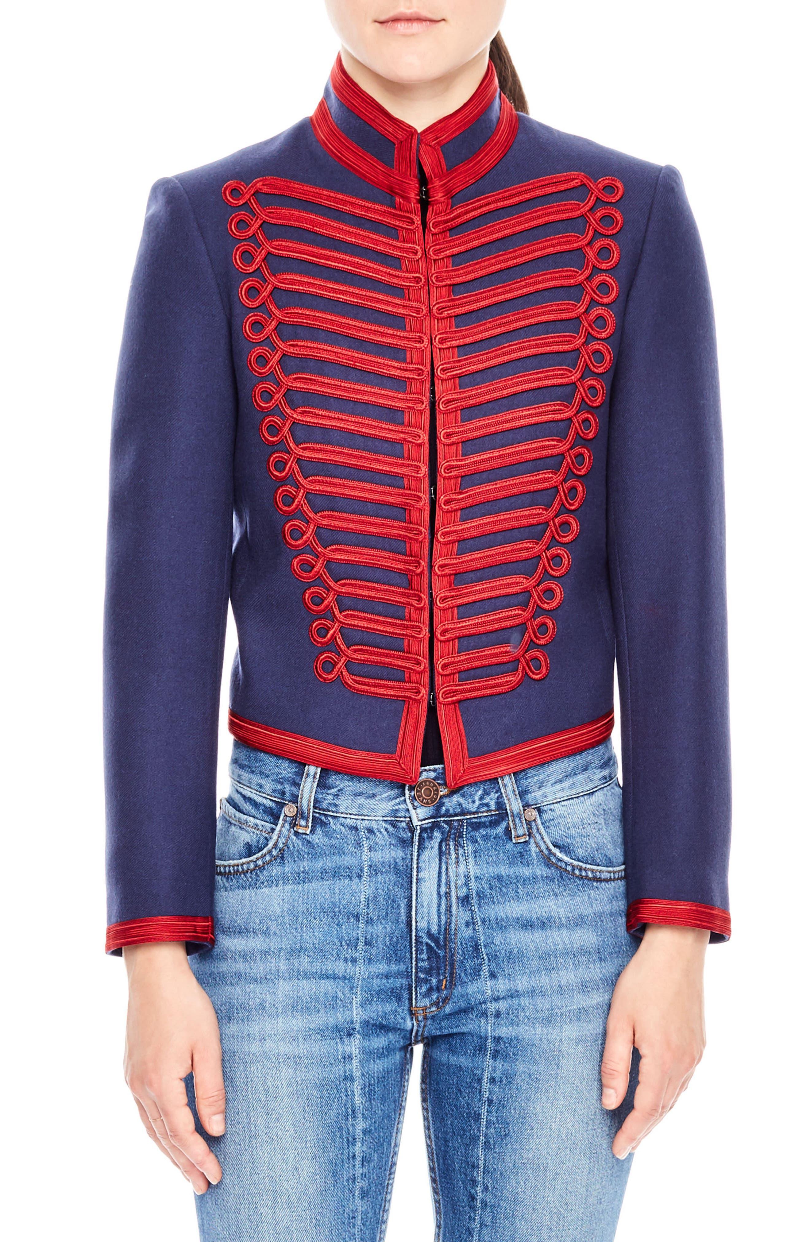 Wool Soldier Jacket,                         Main,                         color, Cobalt