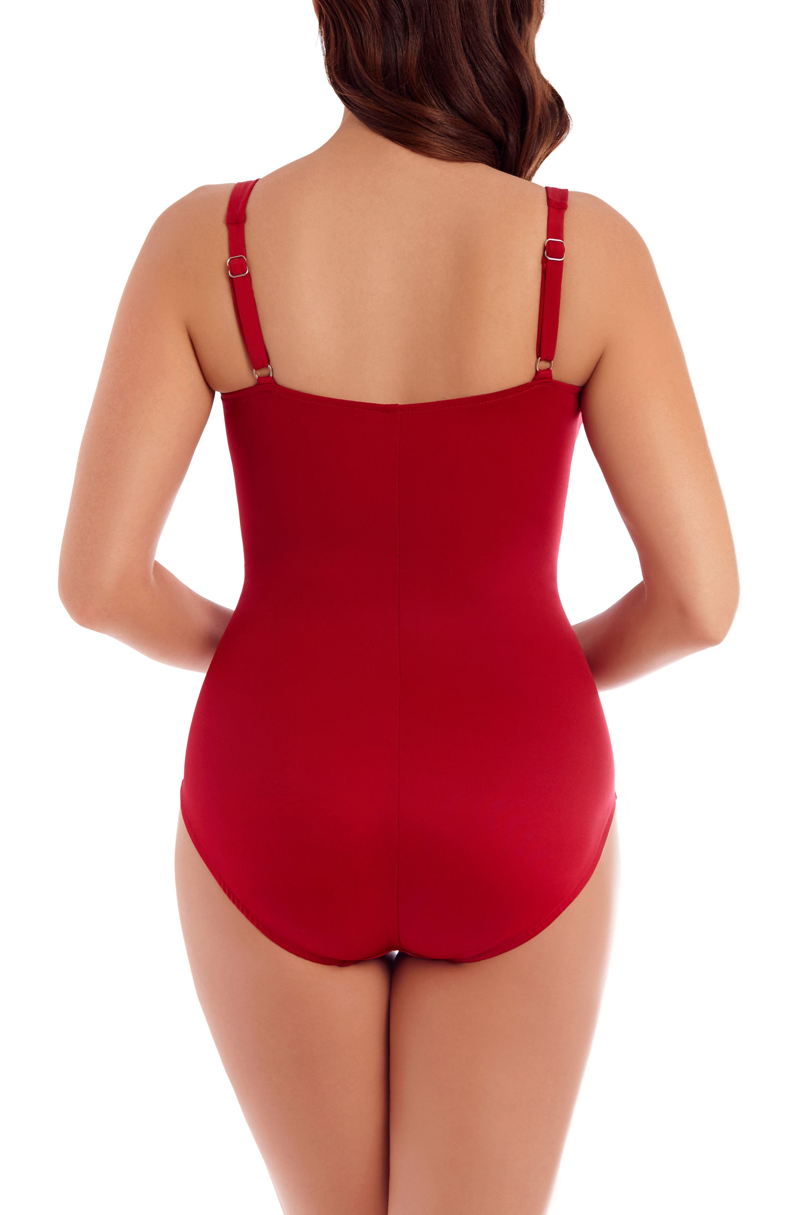 So Riche Zipcode One-Piece Swimsuit,                             Alternate thumbnail 2, color,                             Red