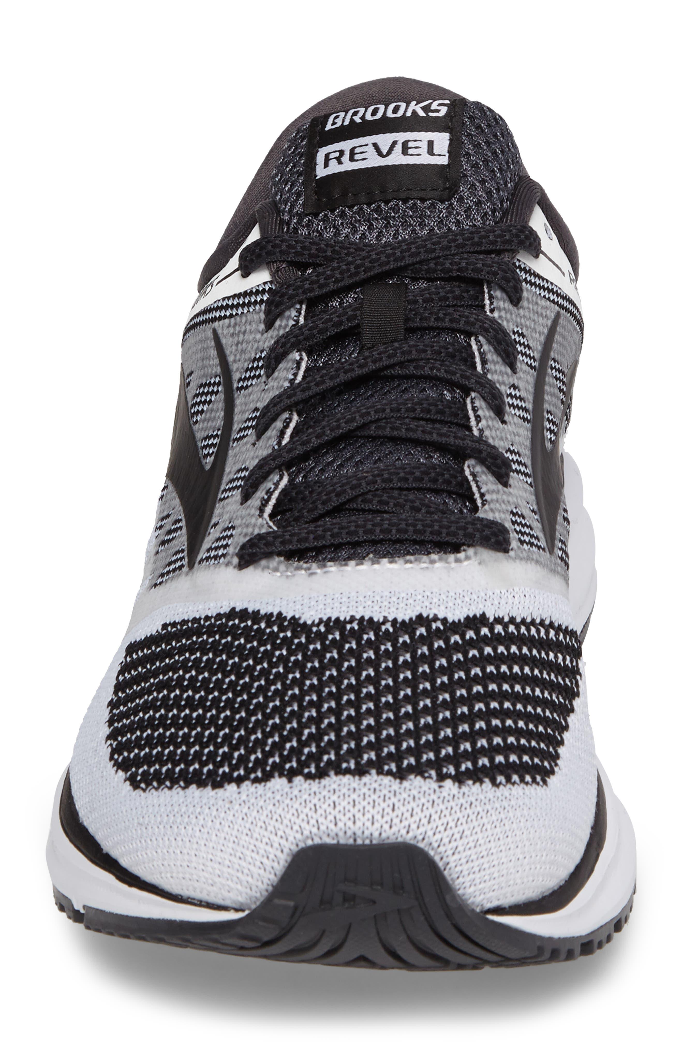 Revel Sneaker,                             Alternate thumbnail 4, color,                             White/ Anthracite/ Black