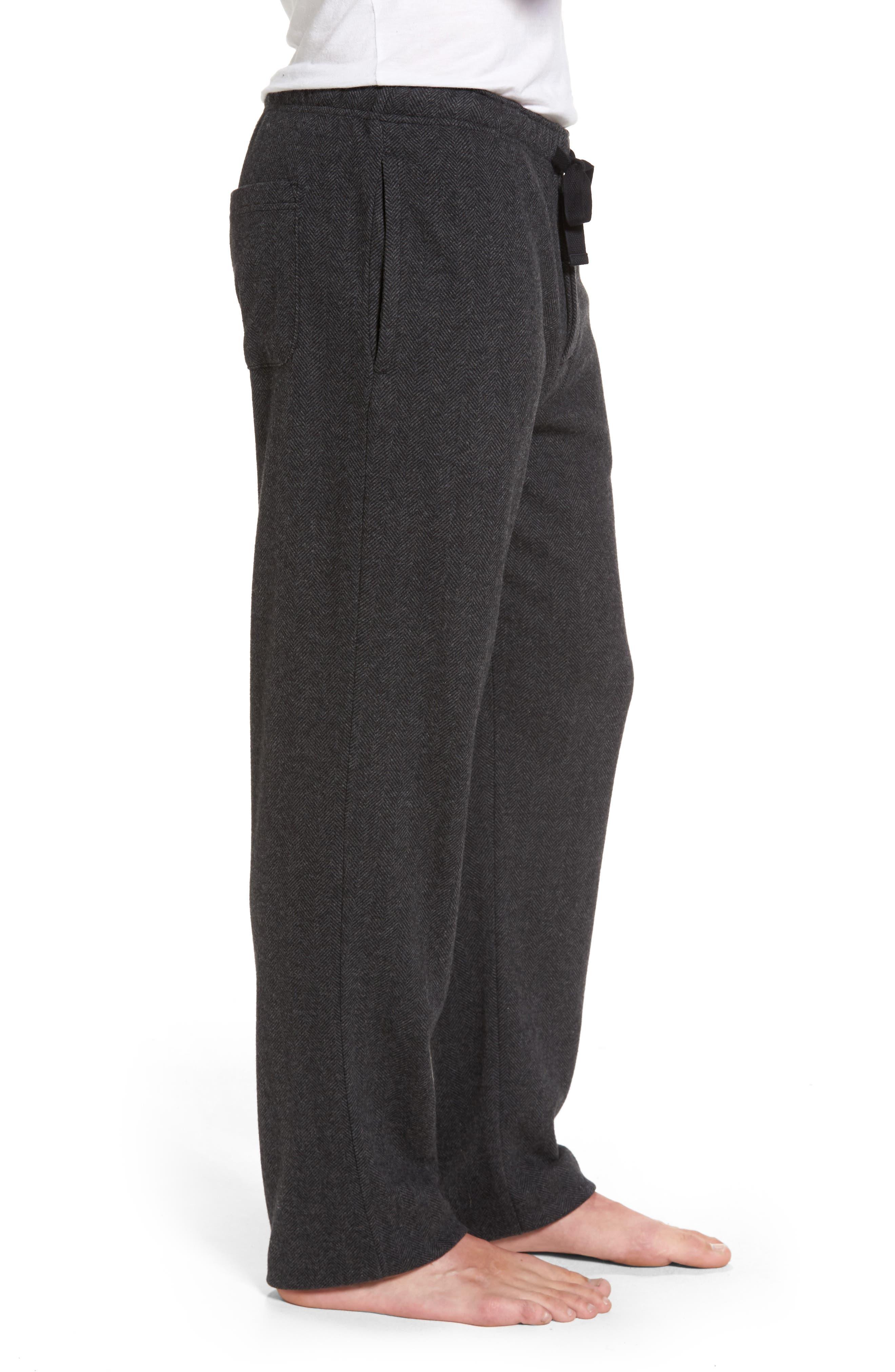 Grayson Lounge Pants,                             Alternate thumbnail 3, color,                             Charcoal