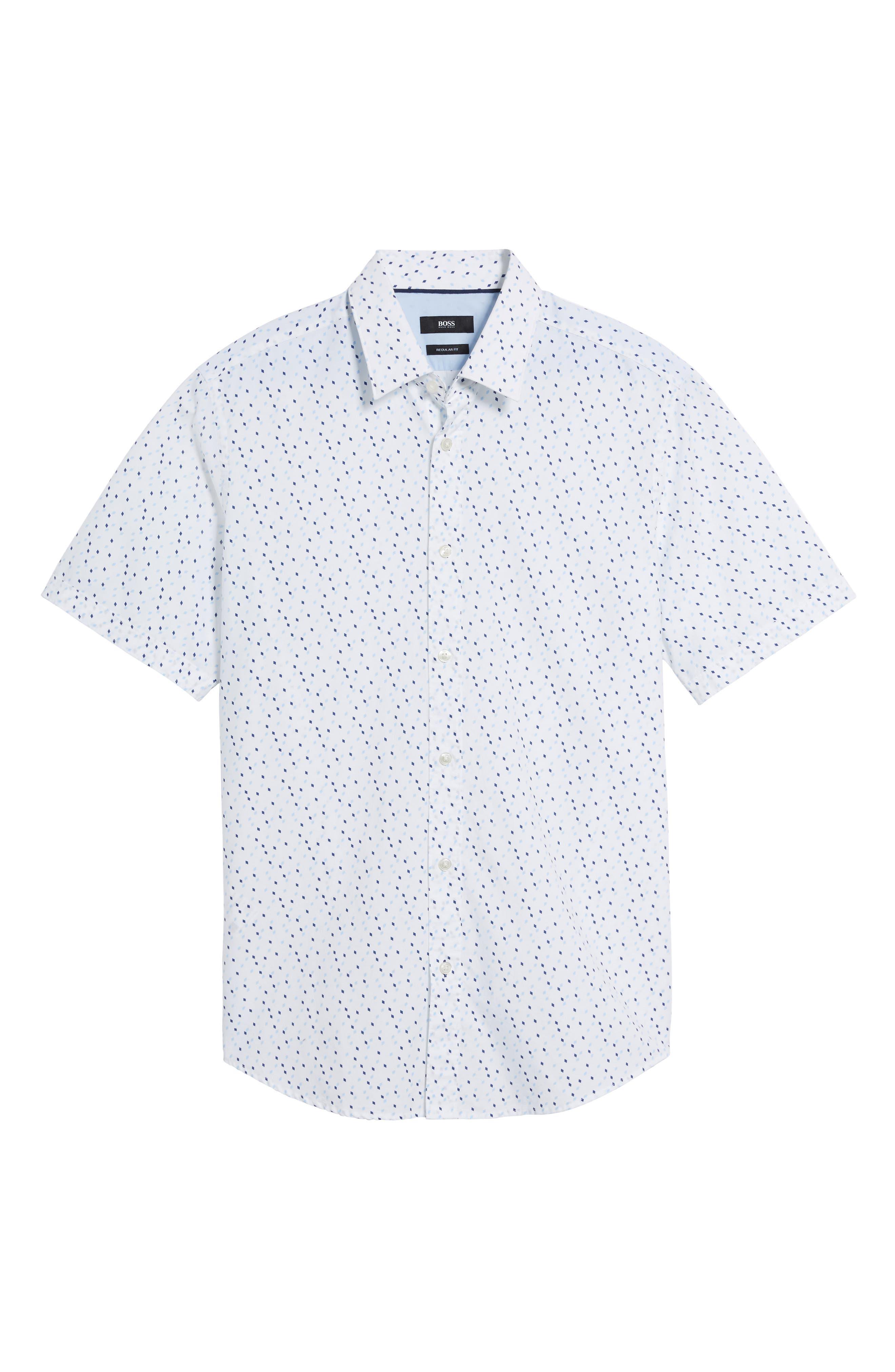 Luka Regular Fit Print Sport Shirt,                             Alternate thumbnail 5, color,                             Navy
