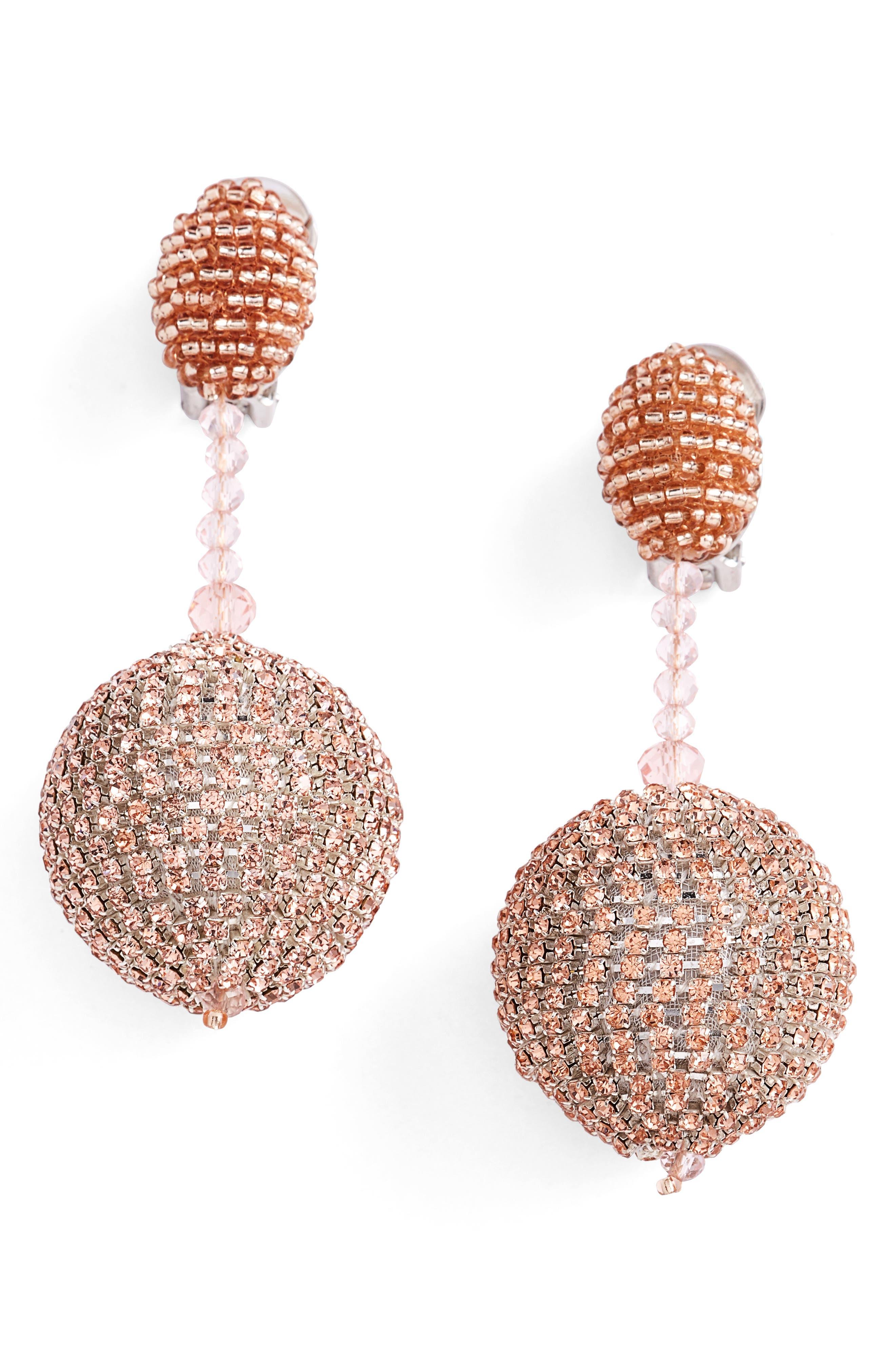 Beaded Drop Earrings,                         Main,                         color, Sorbet