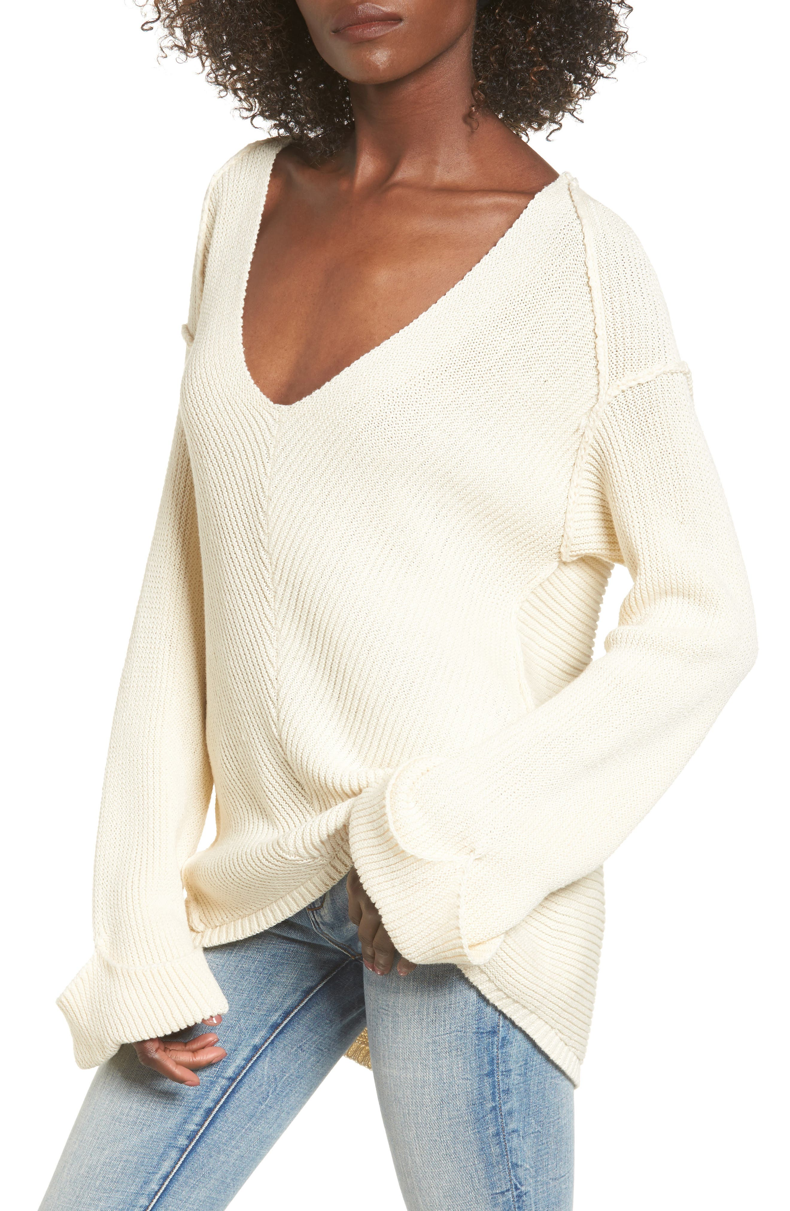 Alternate Image 1 Selected - ASTR the Label Direction Change Bell Sleeve Sweater