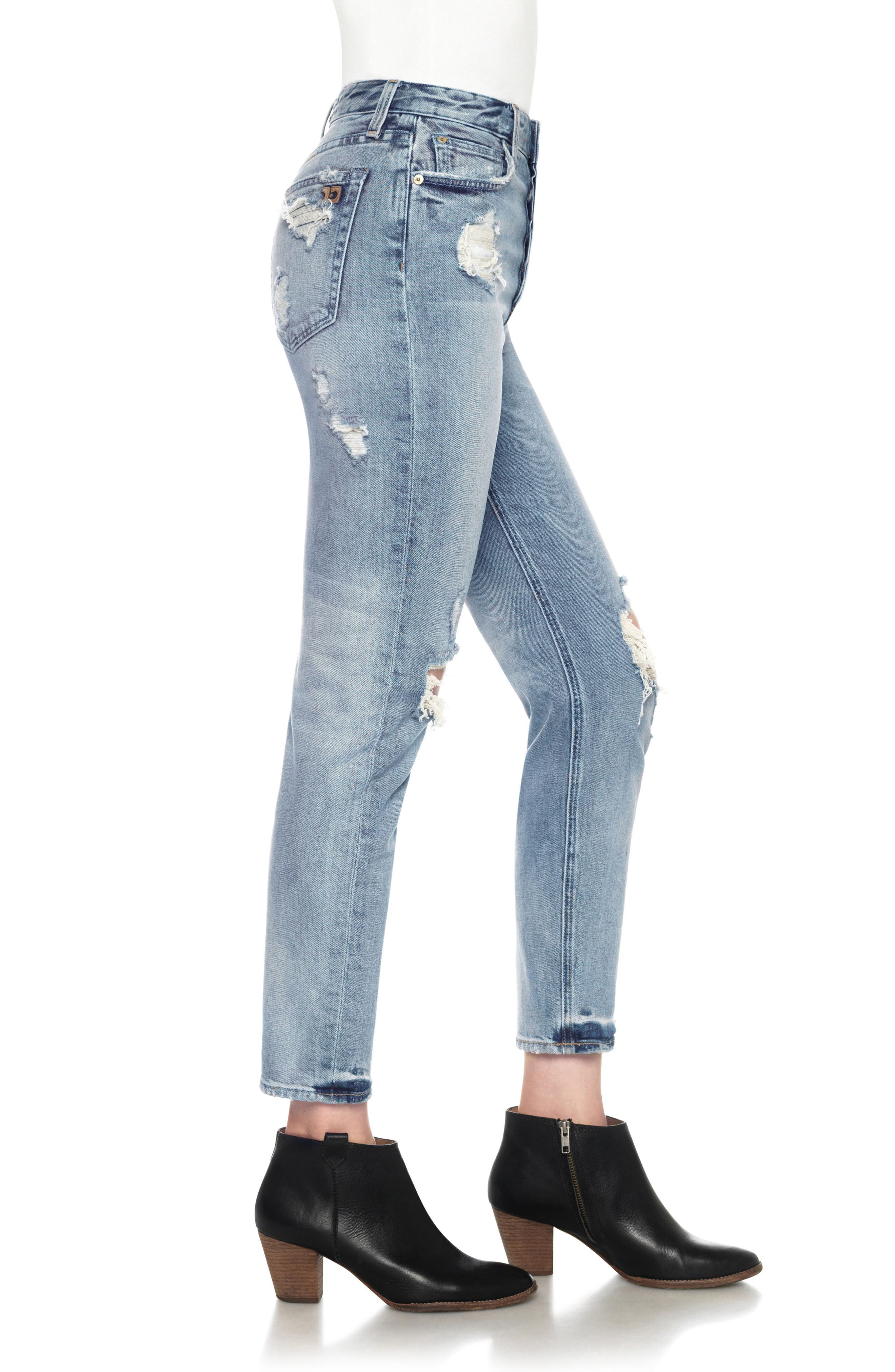 Classics Debbie High Waist Ankle Straight Leg Jeans,                             Alternate thumbnail 3, color,                             Serafina