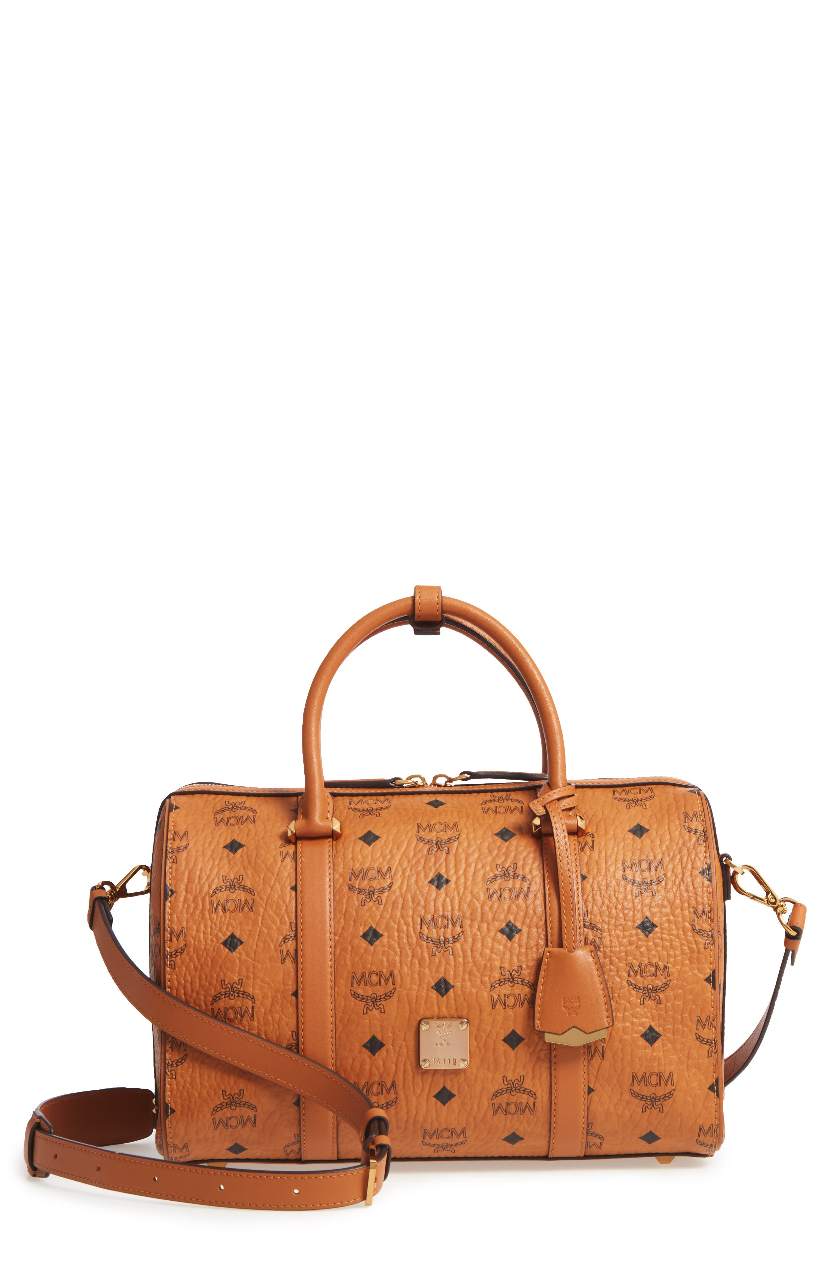 Essential Boston Bag,                             Main thumbnail 1, color,                             Cognac