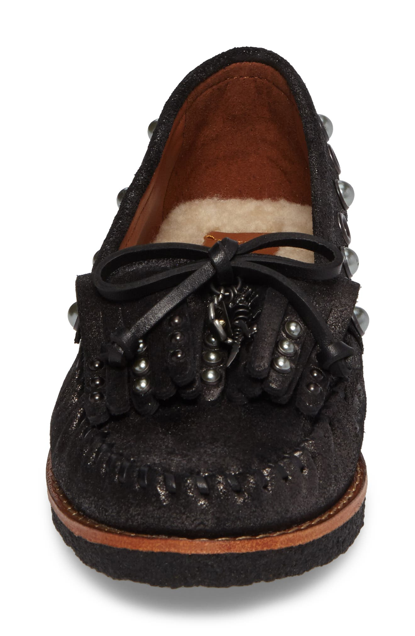 Roccasin Flat,                             Alternate thumbnail 4, color,                             Anthracite Suede
