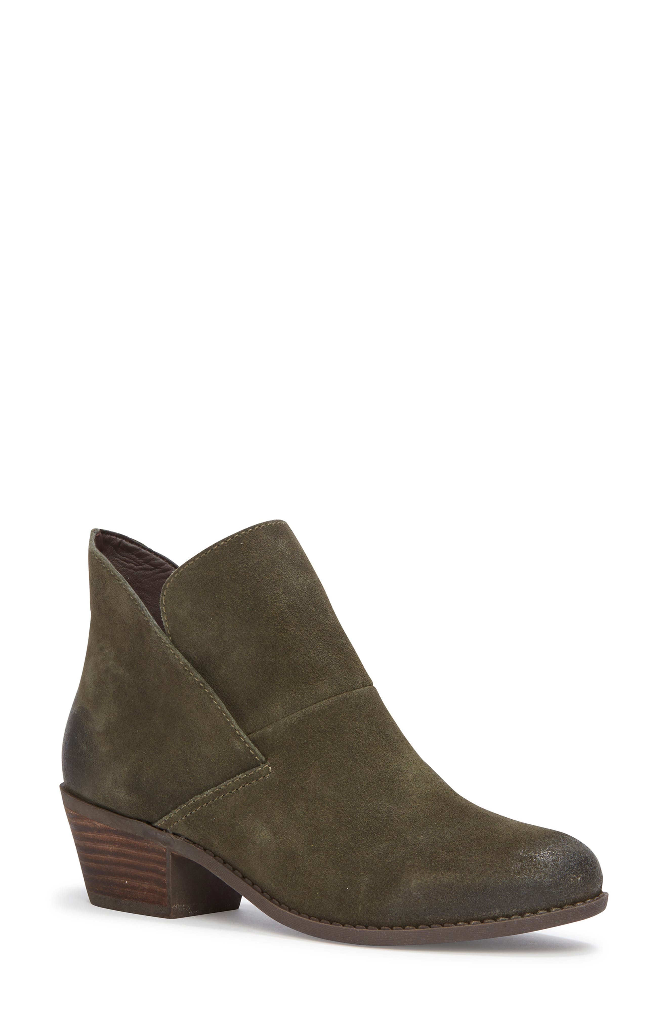 Me Too Zena Ankle Boot,                         Main,                         color, Moss Suede