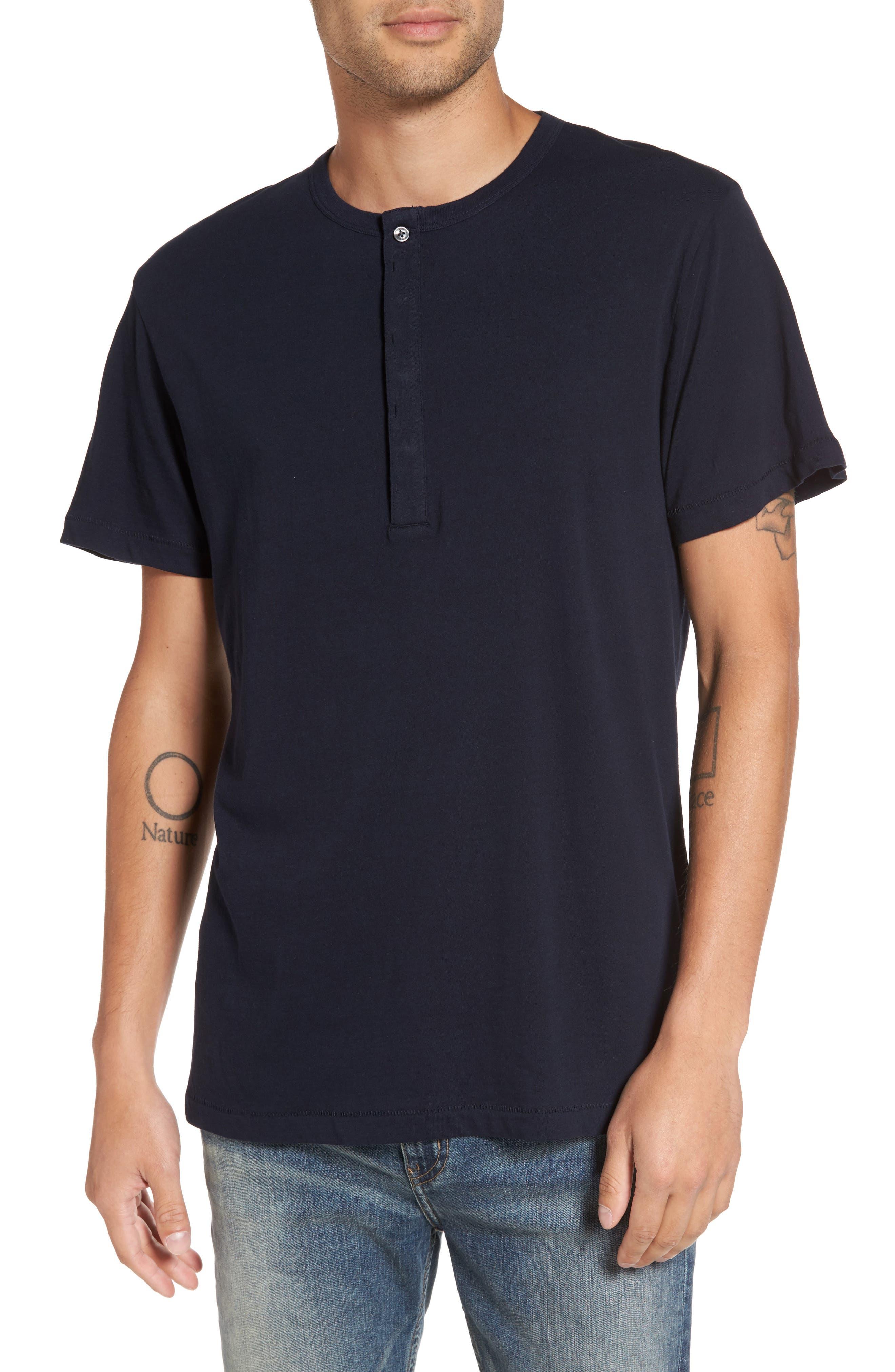 Henley T-Shirt,                         Main,                         color, Marine Blue