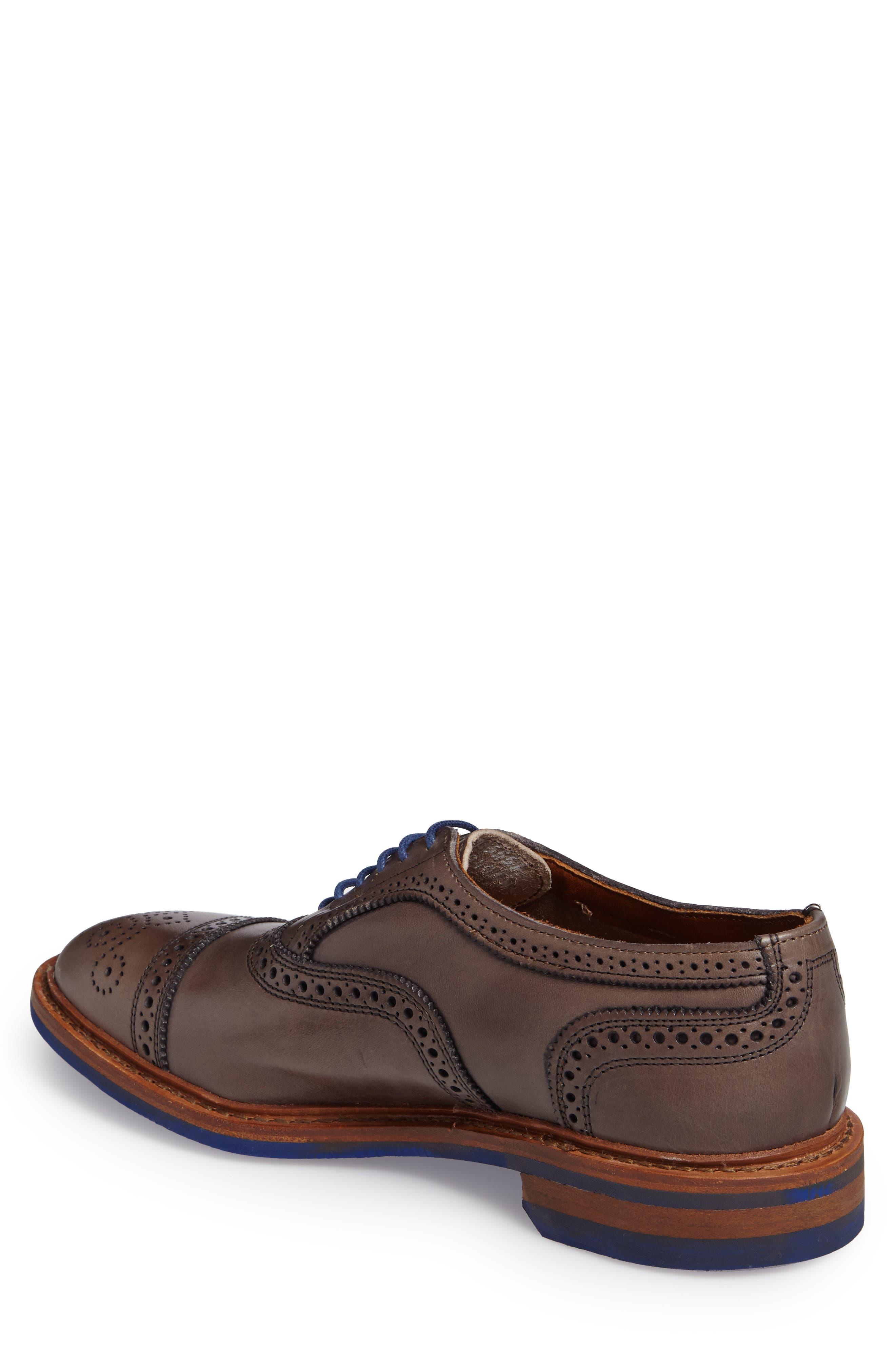 'Strandmok' Cap Toe Oxford,                             Alternate thumbnail 2, color,                             Grey Leather