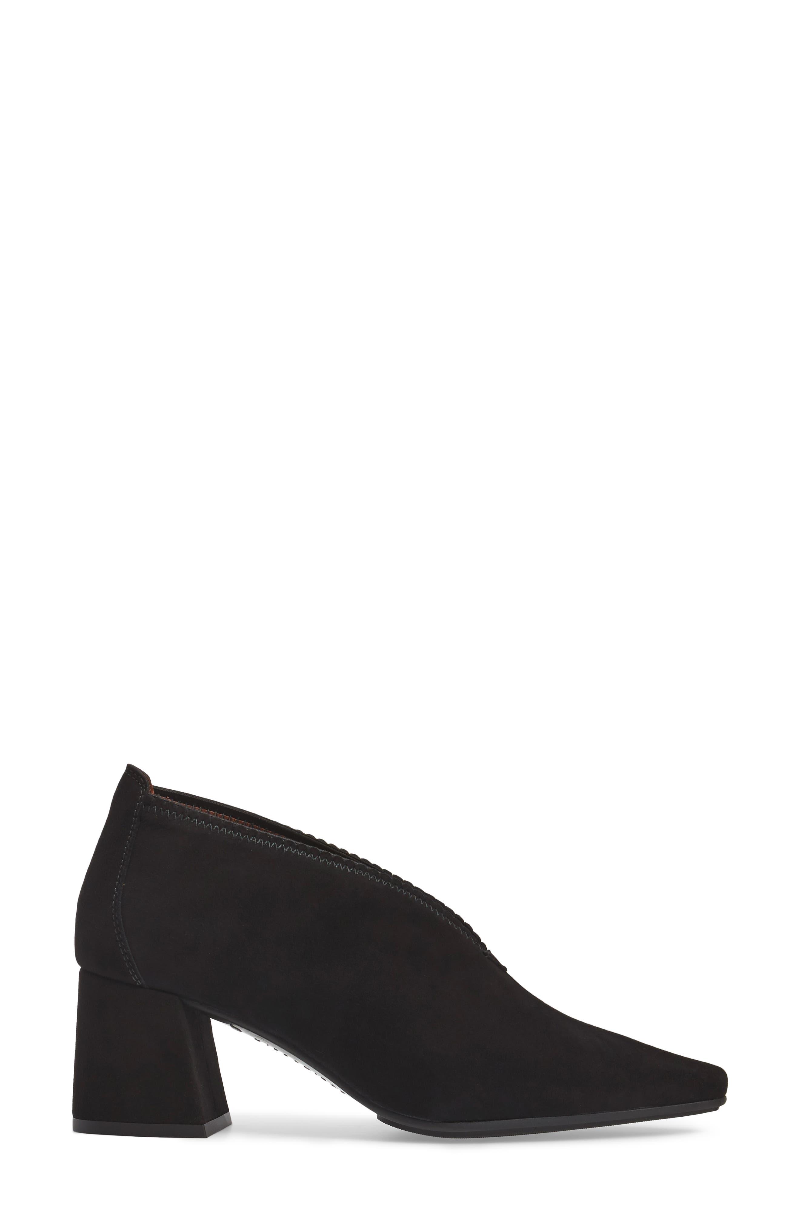 Connie Block Heel Pump,                             Alternate thumbnail 3, color,                             Ante Black Leather