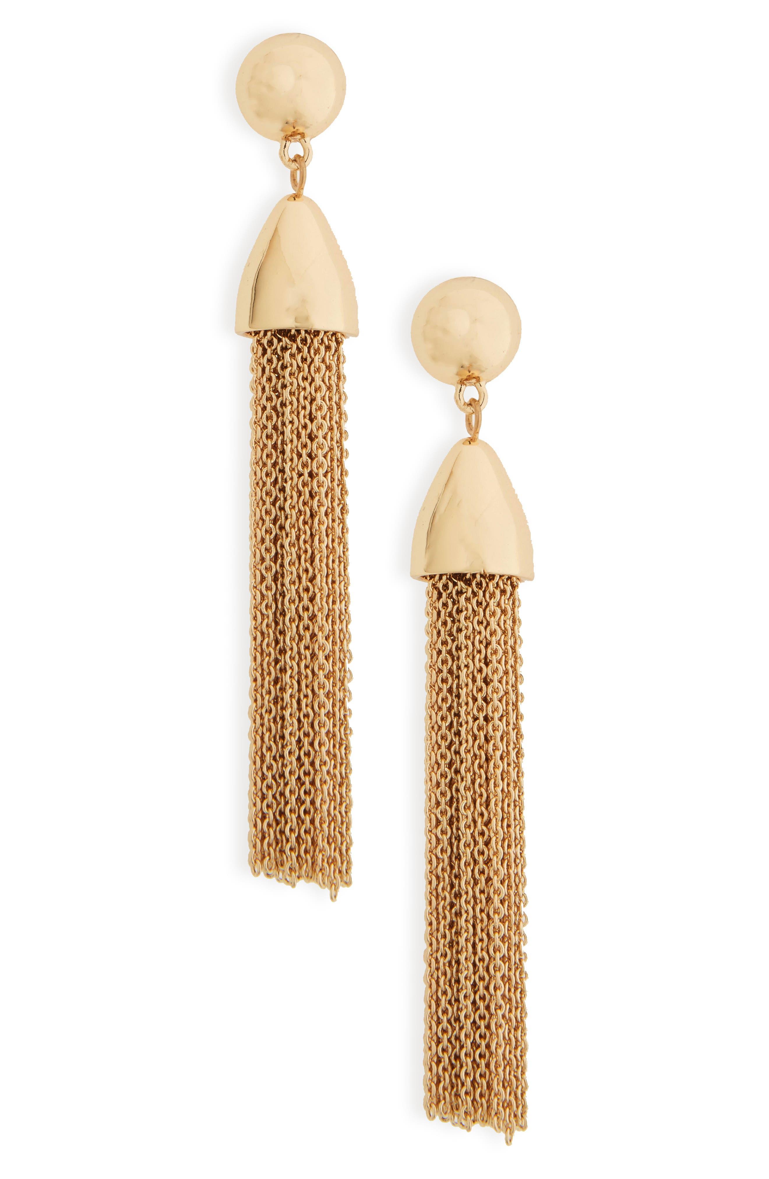 Main Image - BaubleBar Tassel Drop Earrings