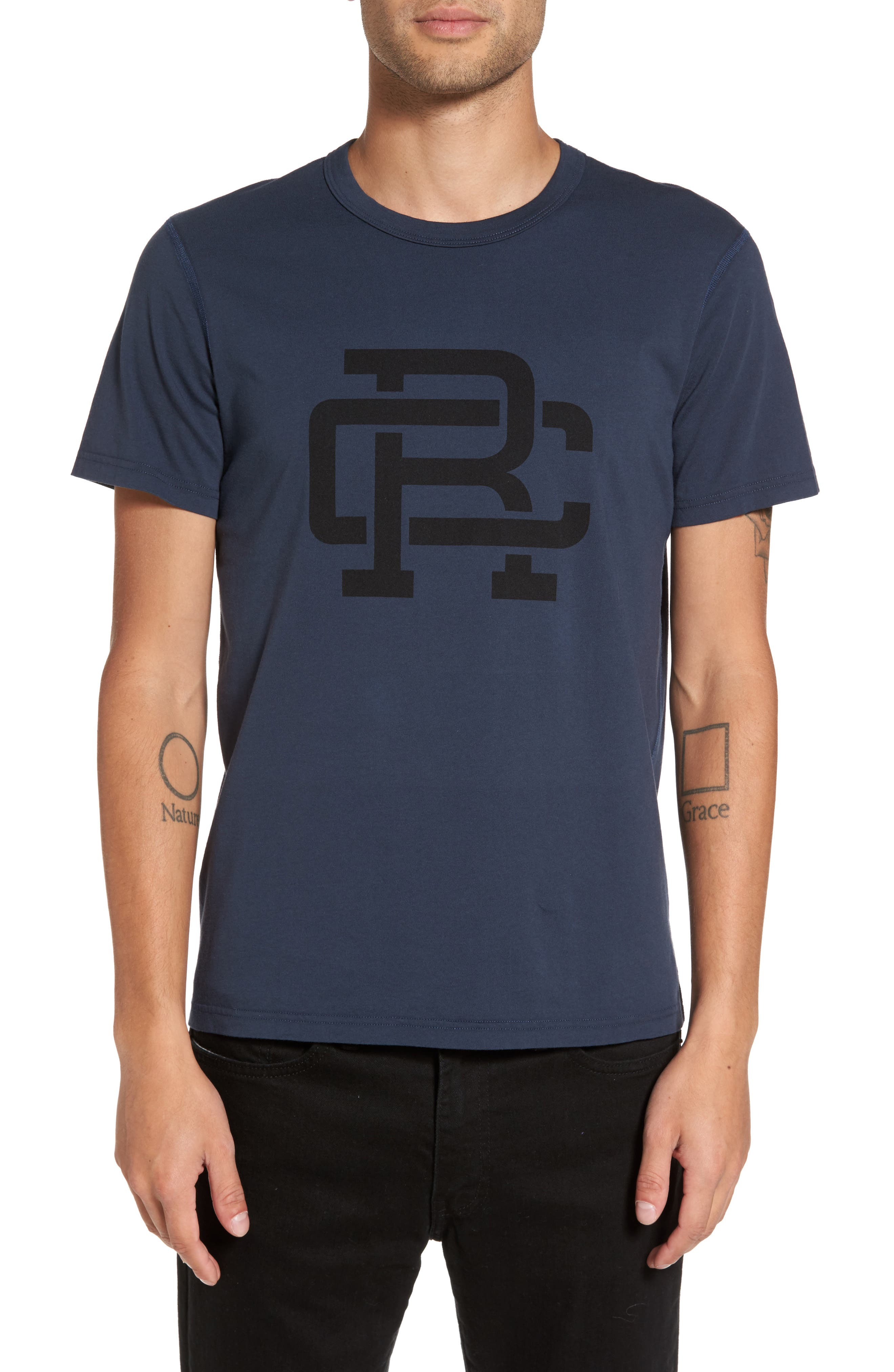 Logo Graphic T-Shirt,                         Main,                         color, Steel/ Black