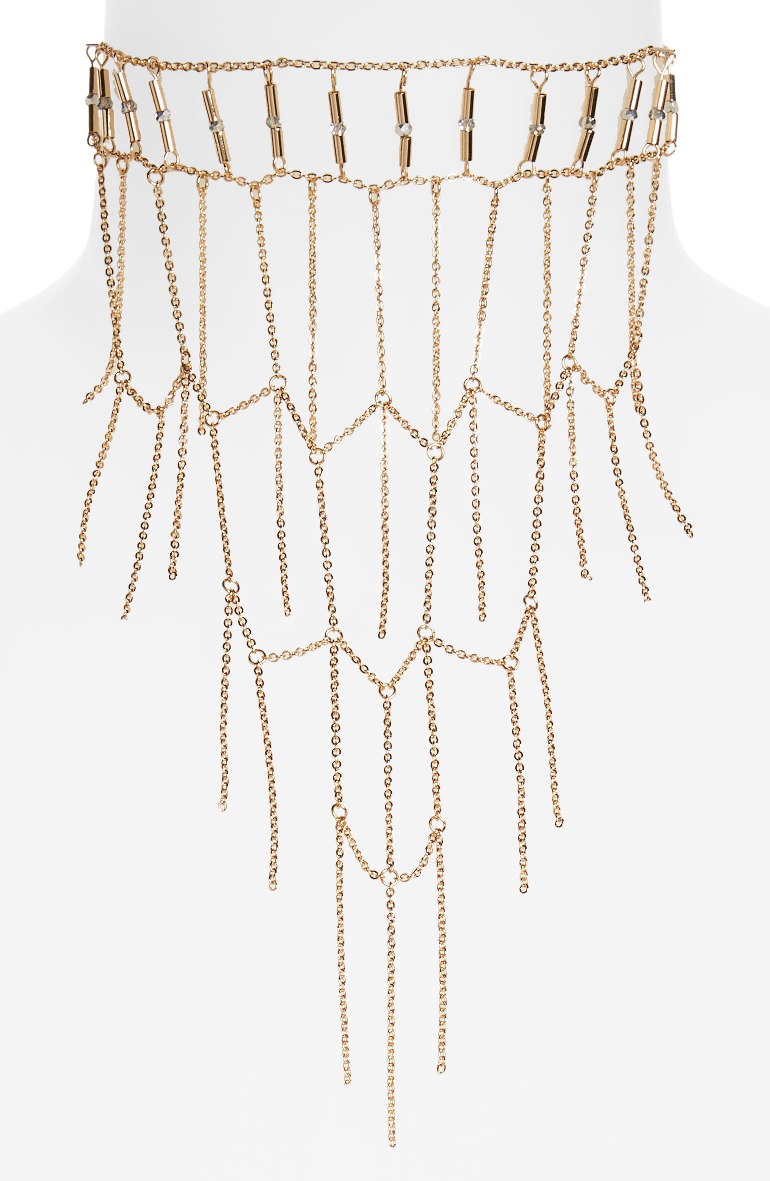 Topshop Ladder Collar Necklace