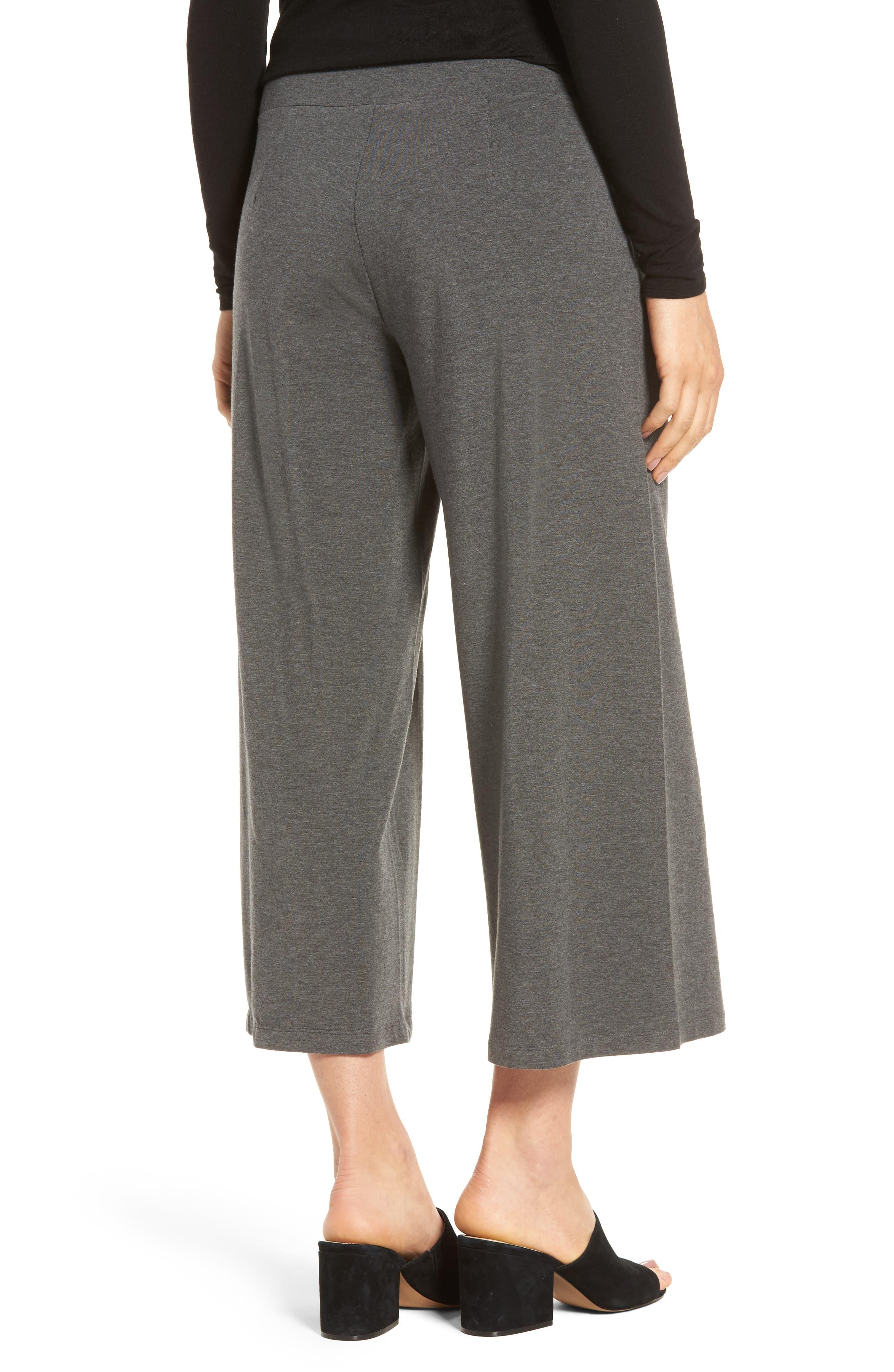 Wide Leg Crop Pants,                             Alternate thumbnail 2, color,                             Ash