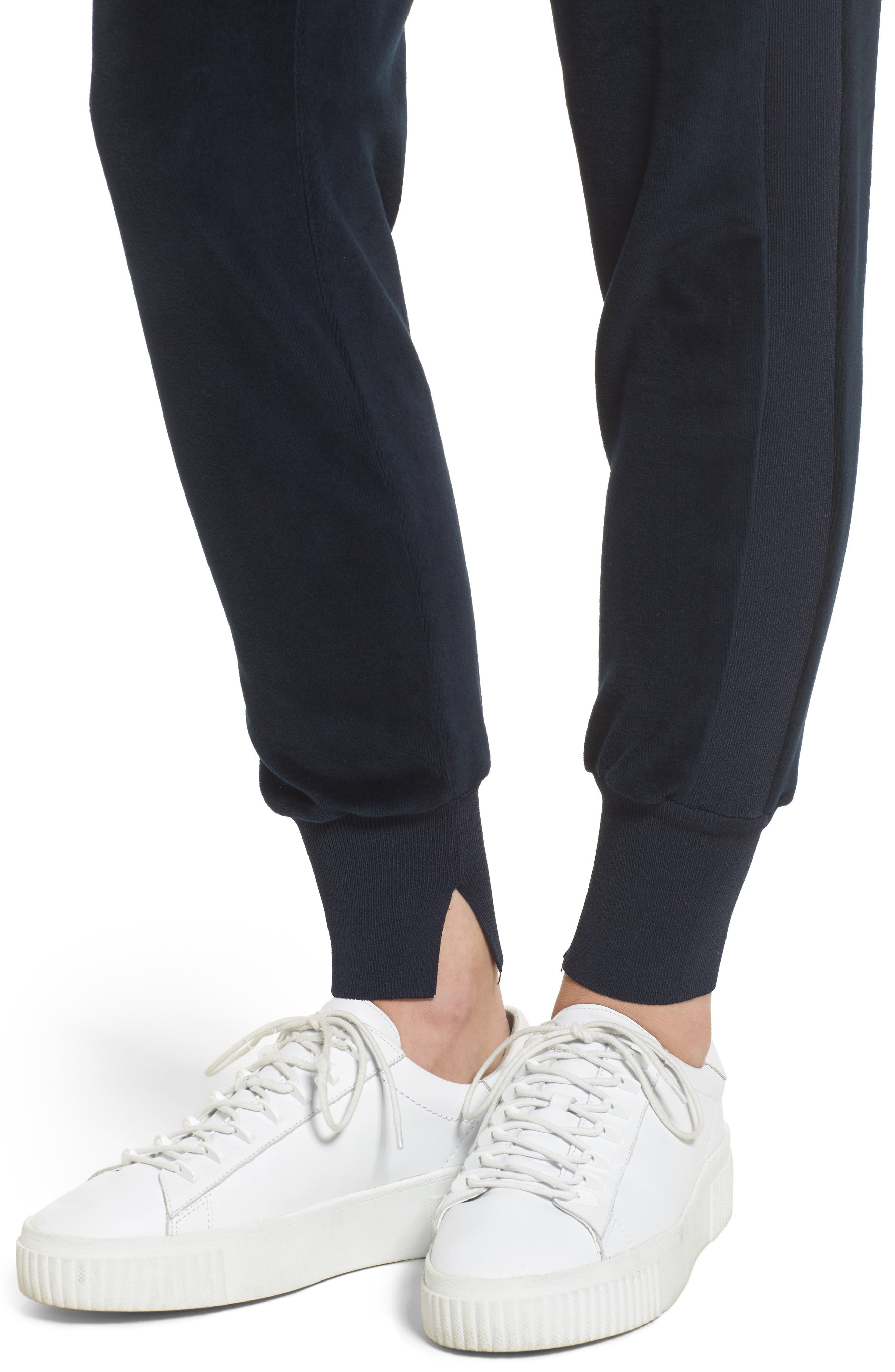 Velour Jogger Pants,                             Alternate thumbnail 4, color,                             True Navy