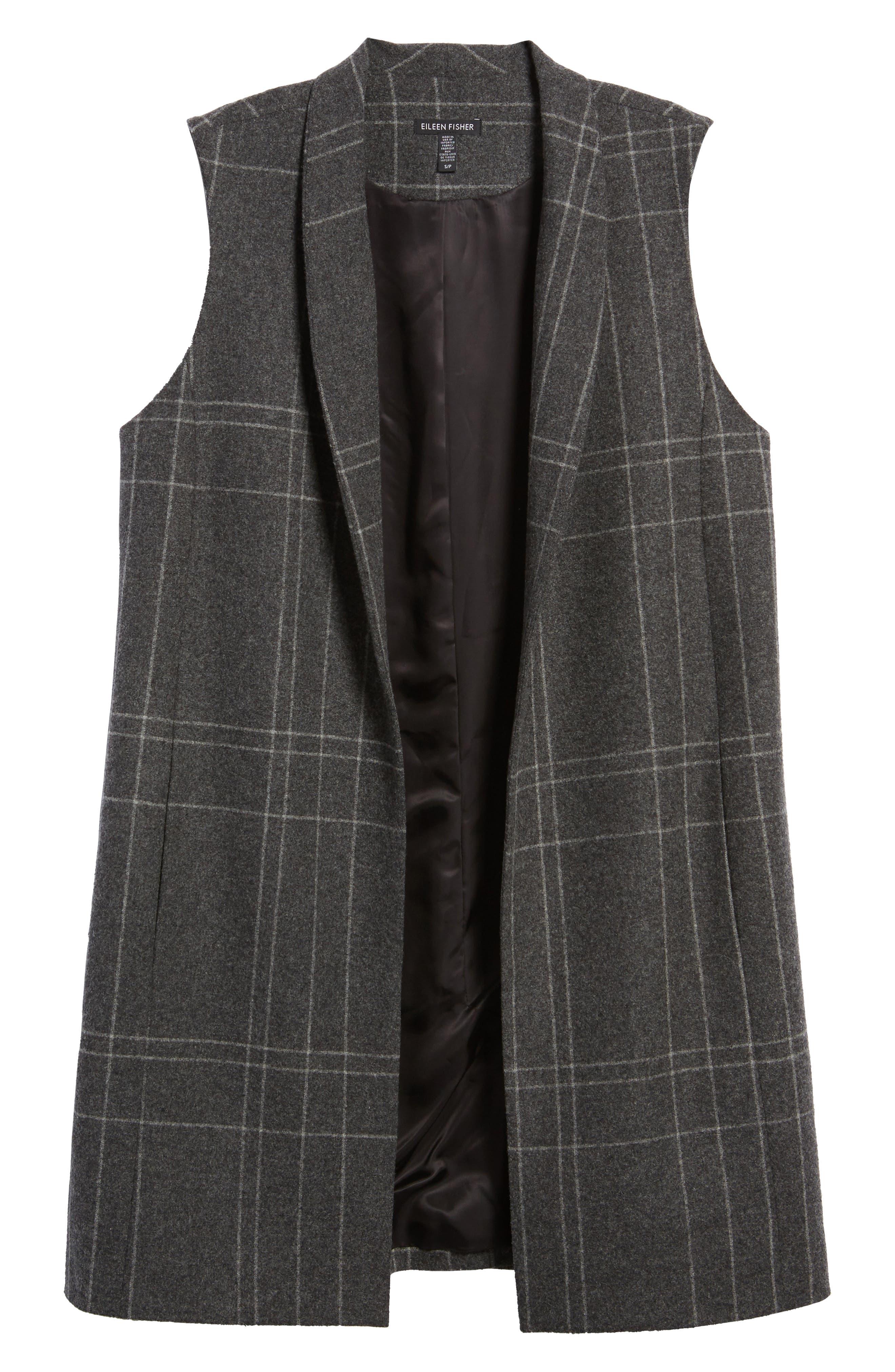Alternate Image 6  - Eileen Fisher Long Plaid Vest