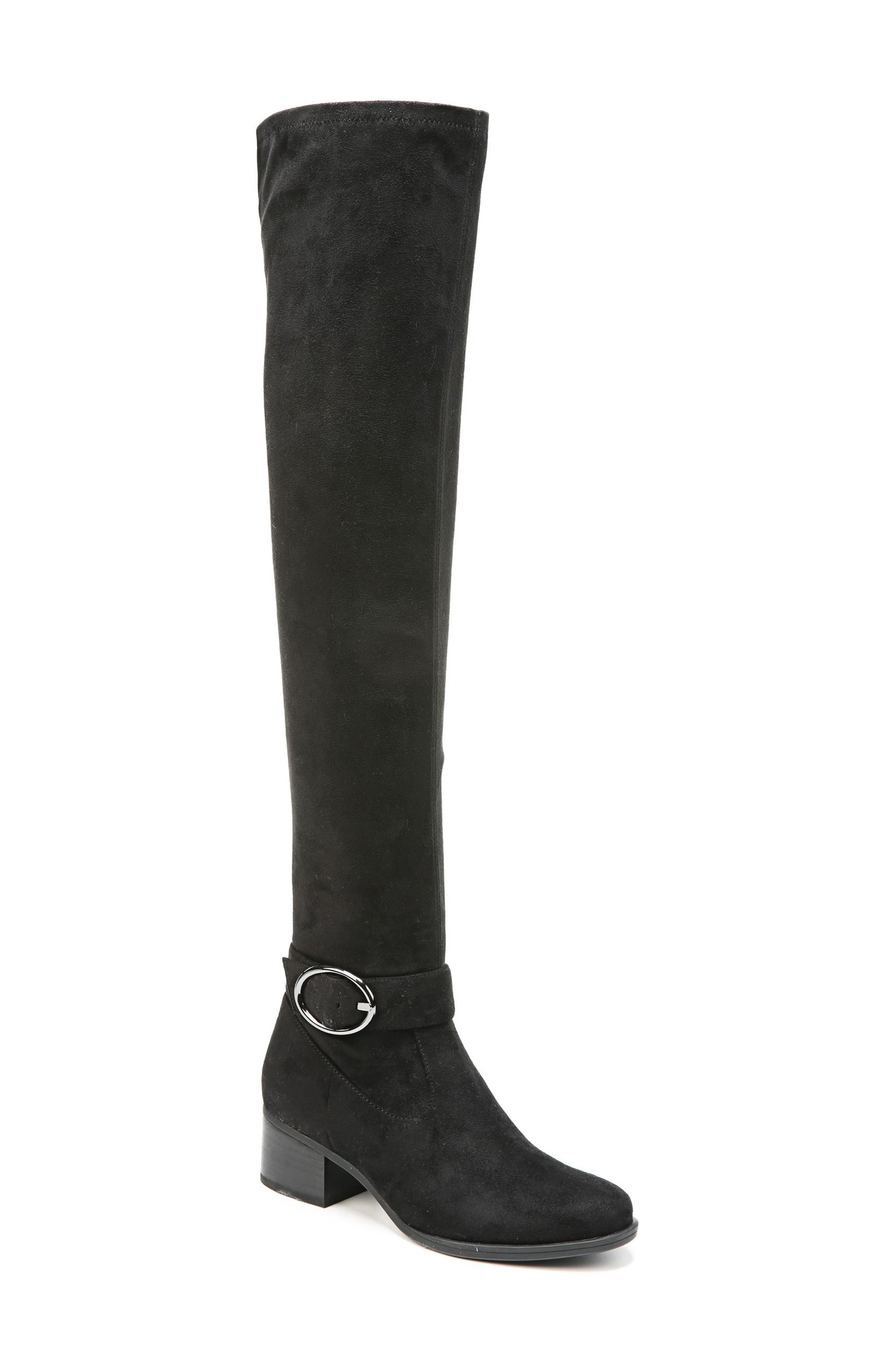 Dalyn Over the Knee Boot,                             Main thumbnail 1, color,                             Black Stretch Microfiber