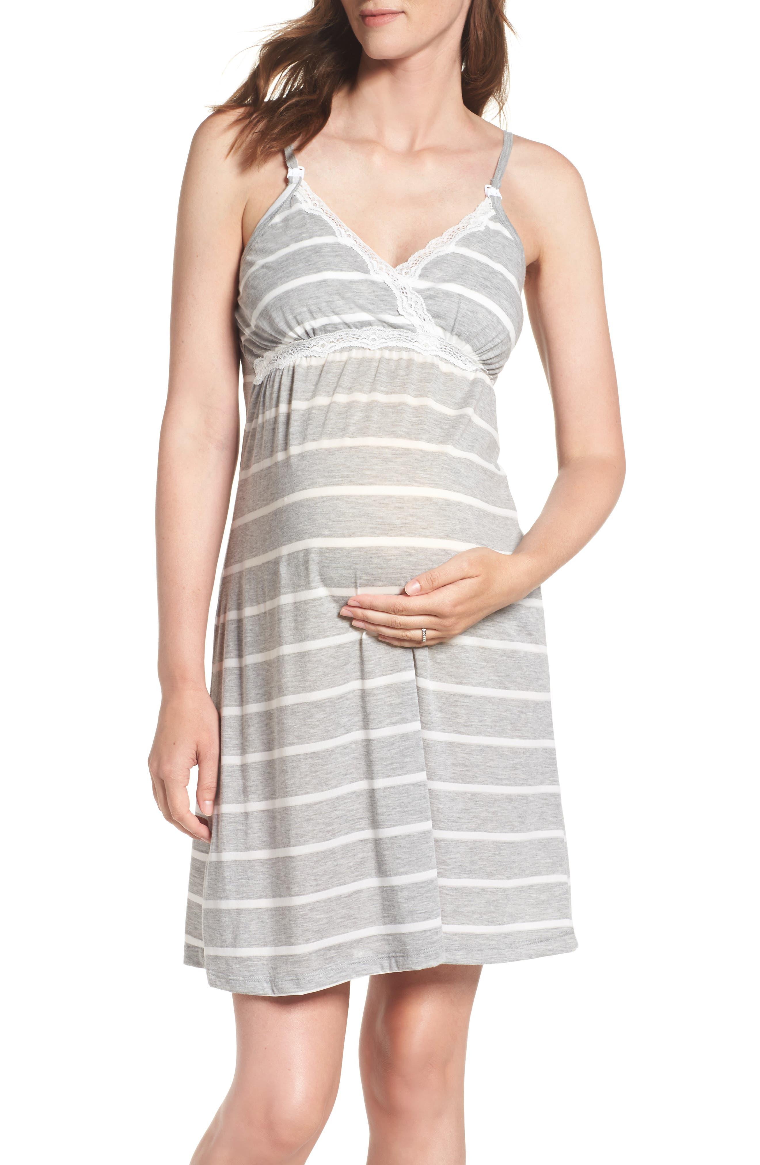 Alternate Image 1 Selected - Belabumbum Maternity/Nursing Jersey Chemise