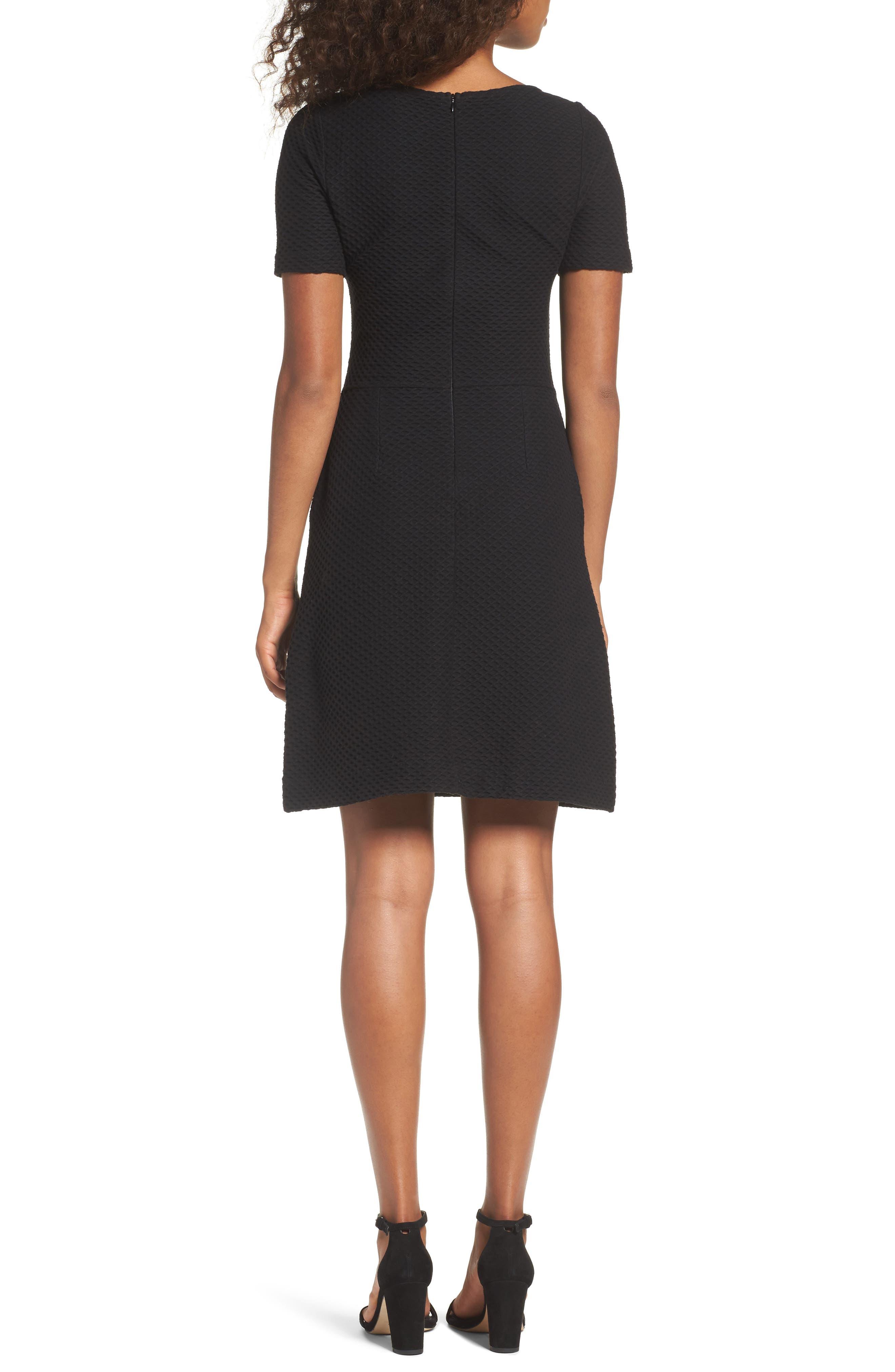 Dixie Fit & Flare Dress,                             Alternate thumbnail 2, color,                             Black
