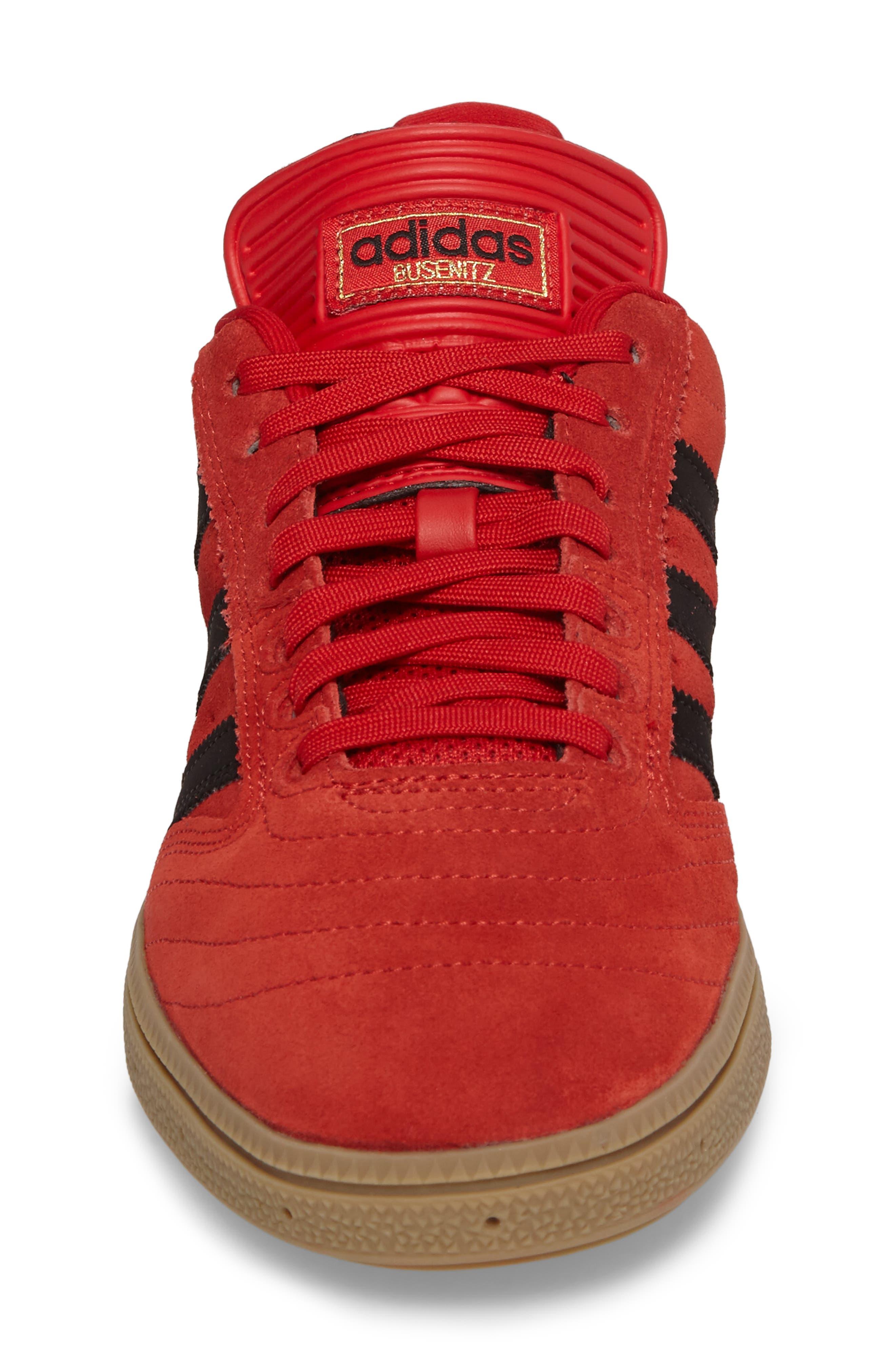 Busenitz Sneaker,                             Alternate thumbnail 4, color,                             Scarlet/ Core Black/ Gum4