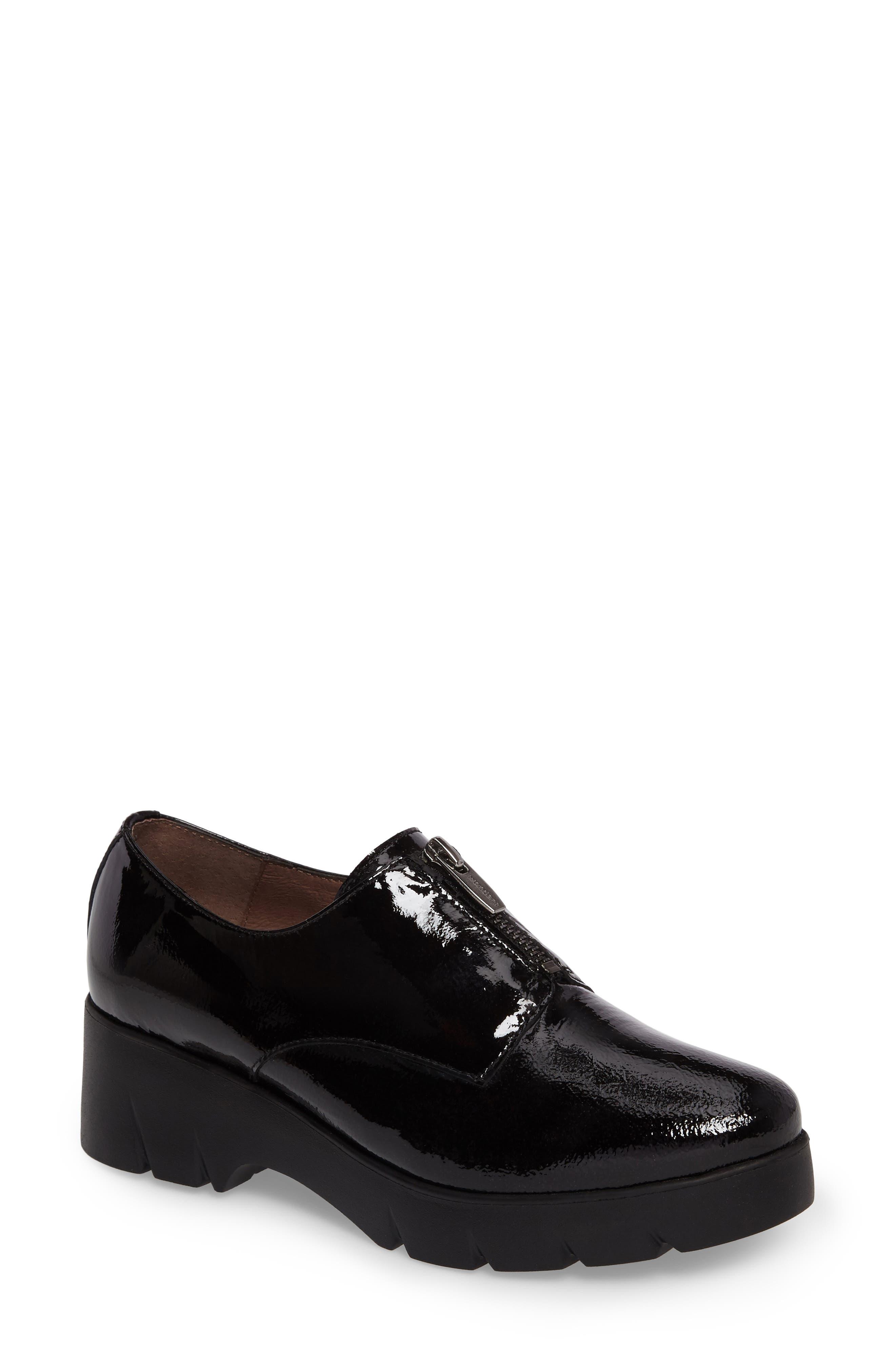 Platform Derby,                             Main thumbnail 1, color,                             Black Patent Leather