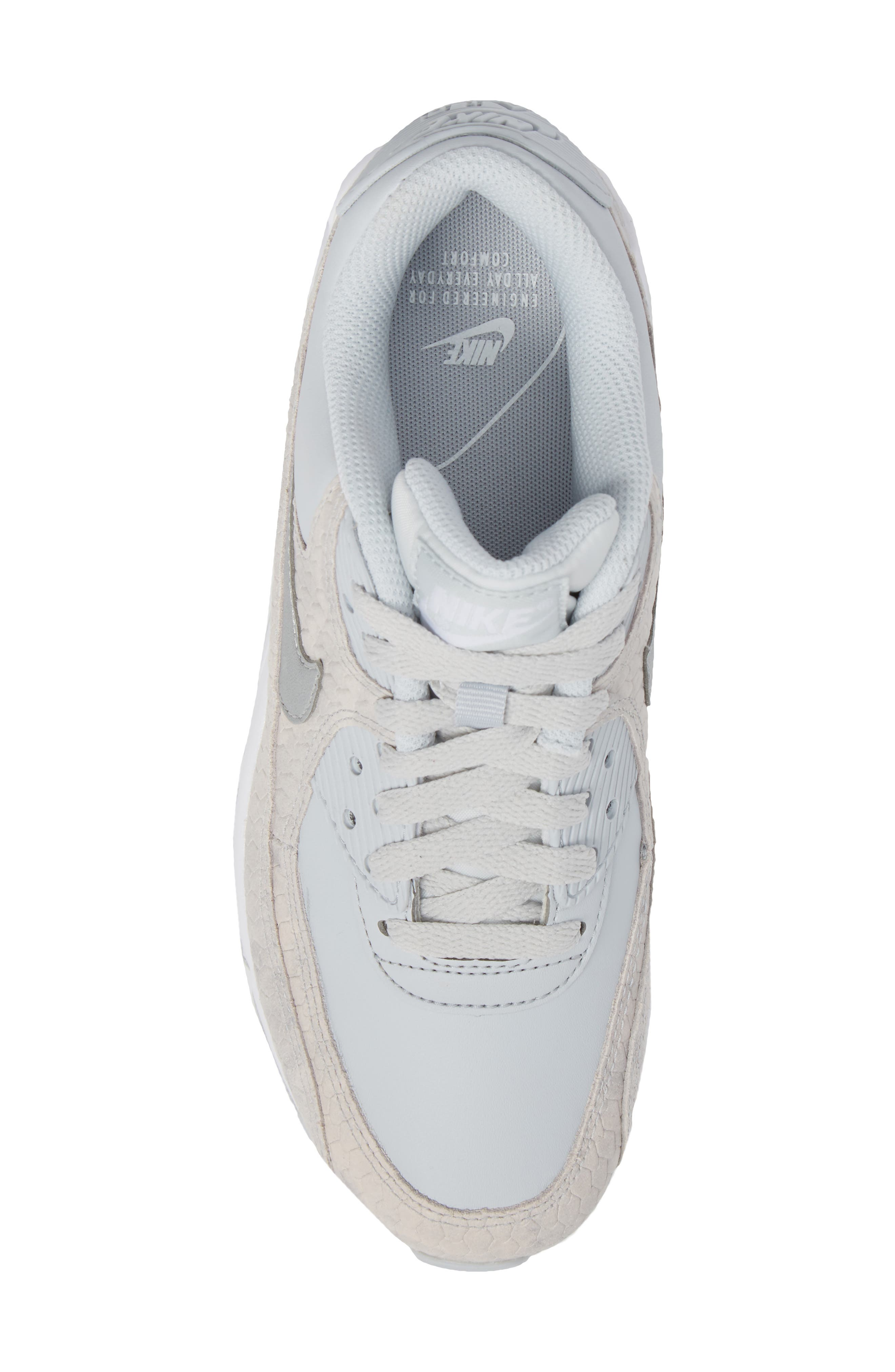 Alternate Image 5  - Nike Air Max 90 Embossed Premium Sneaker (Women)