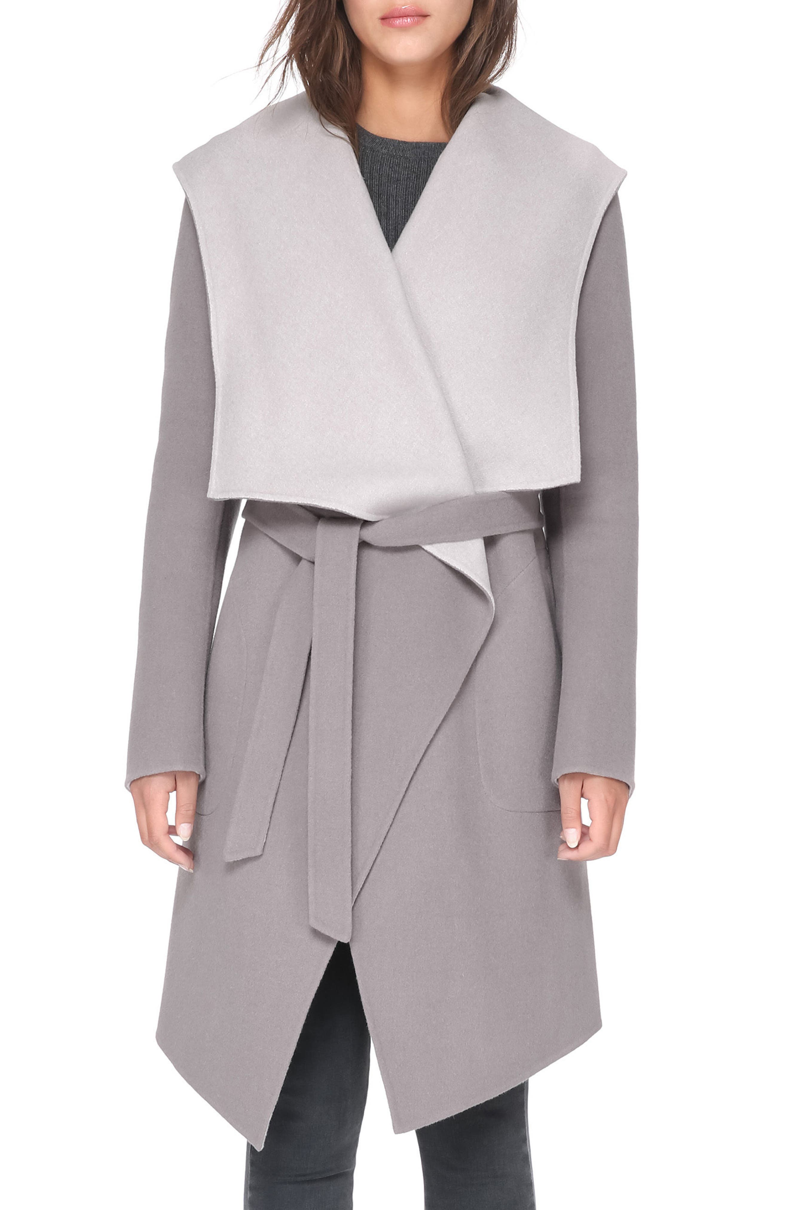 Soia & Kyo Reversible Double Face Wool Blend Coat