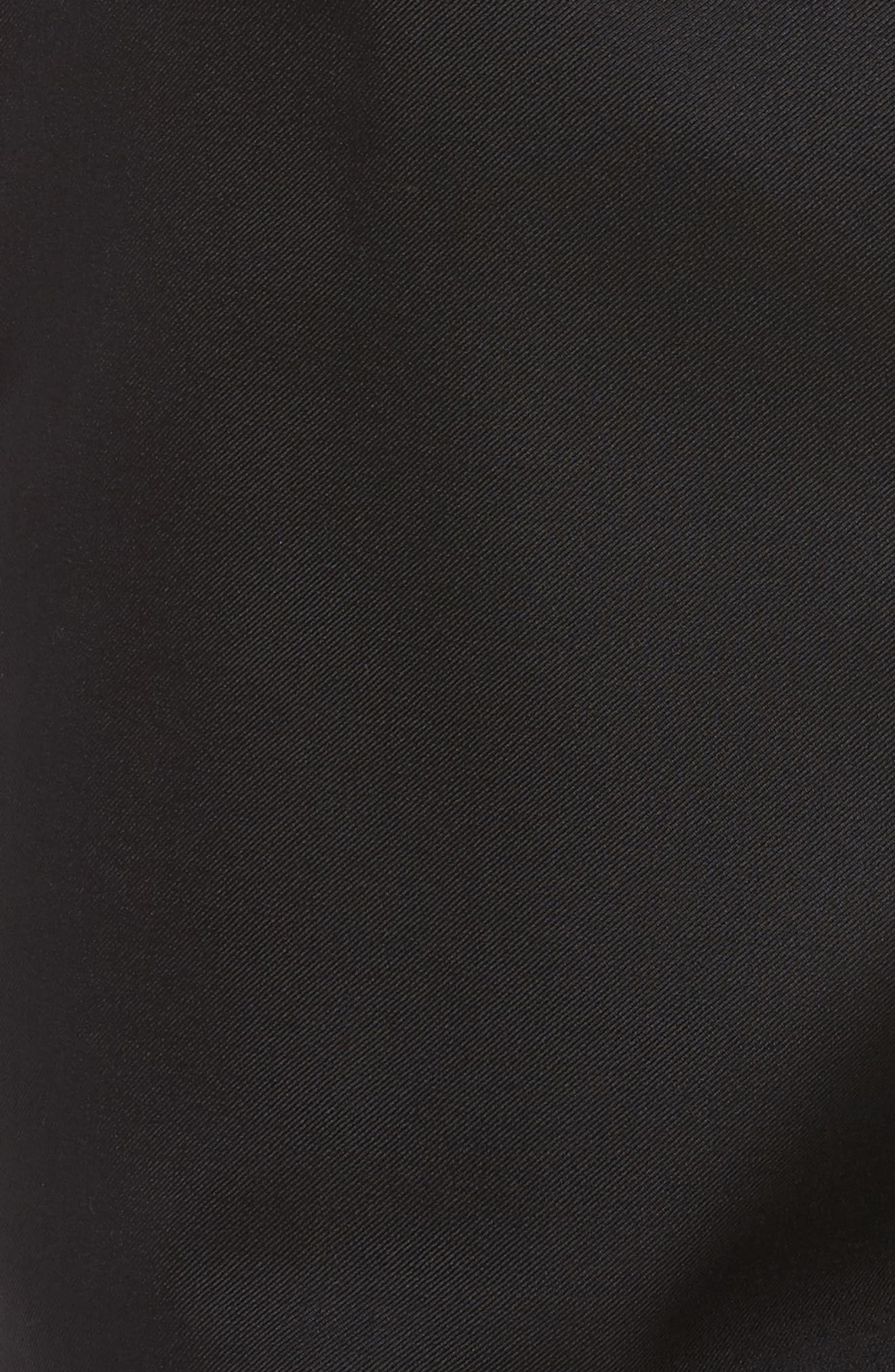 Bennett Regular Fit Pleated Trousers,                             Alternate thumbnail 5, color,                             Black