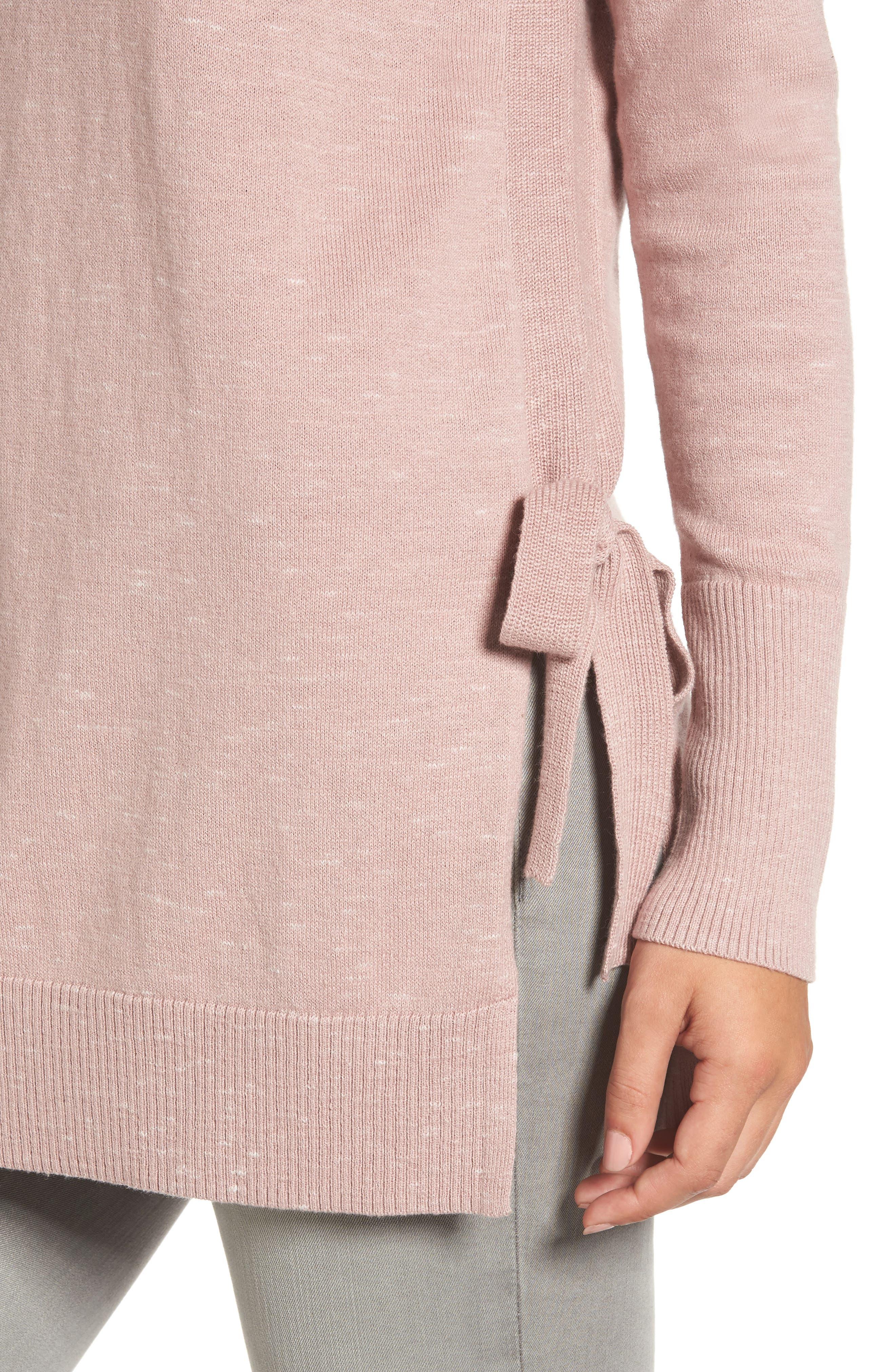 Alternate Image 4  - Caslon® Side Tie Tunic Top (Regular & Petite)