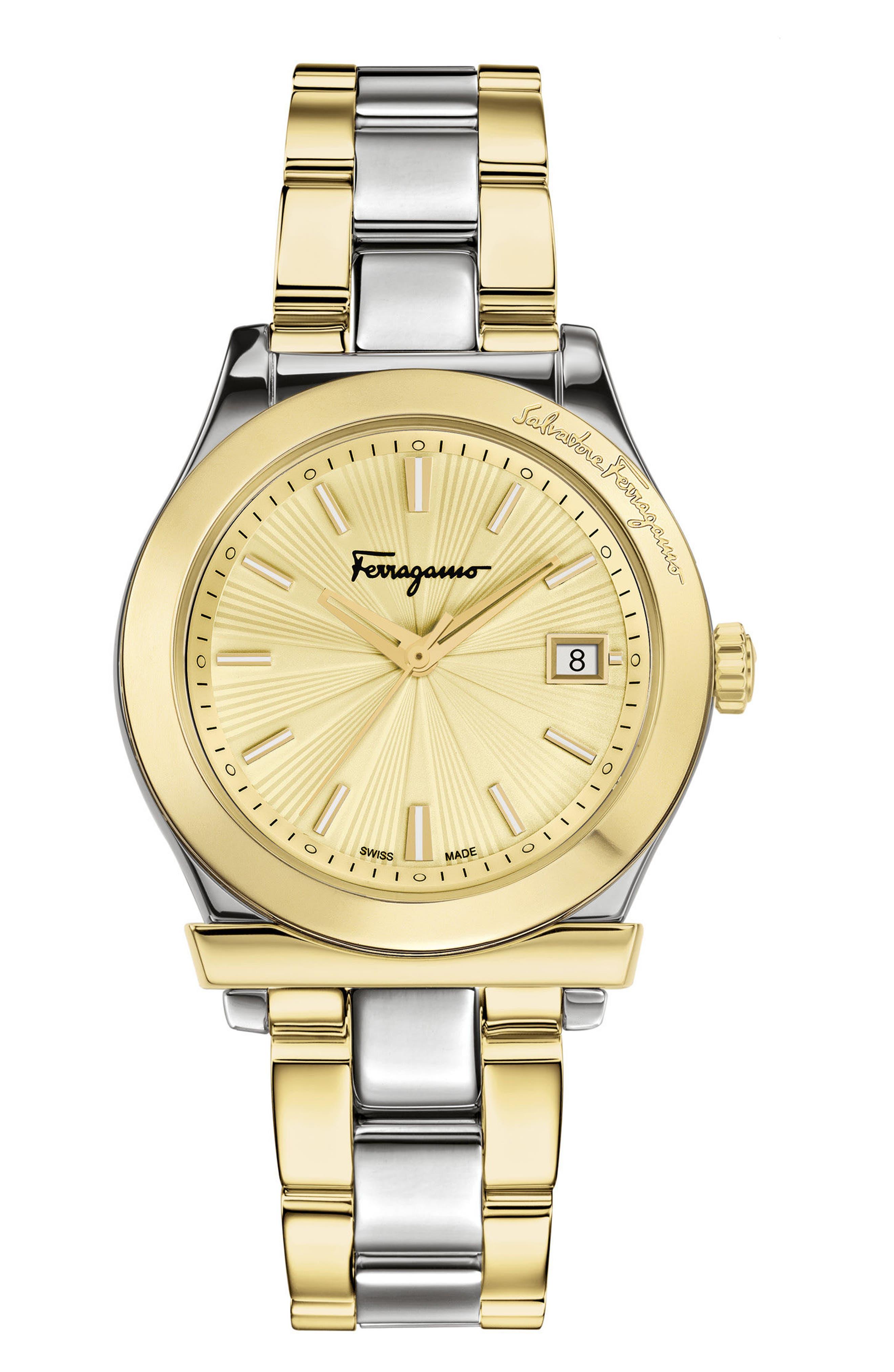Alternate Image 1 Selected - Salvatore Ferragamo 1898 Bracelet Watch, 33mm