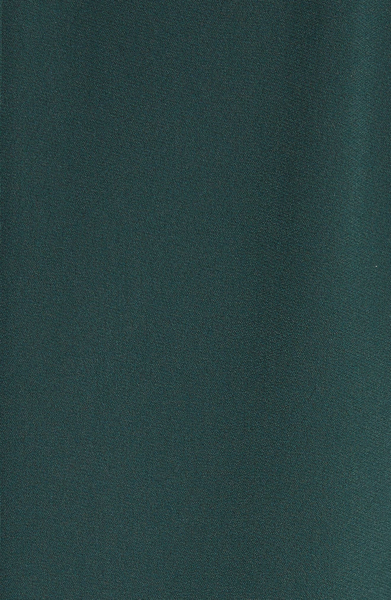 Button Trim Ruffle Hem Dress,                             Alternate thumbnail 6, color,                             Dark Green